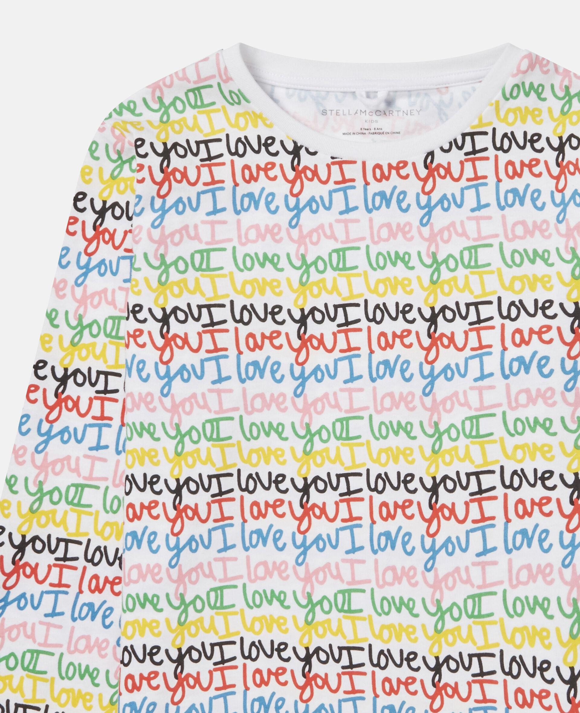 Top aus Baumwolle mit 'Love You'-Print-Bunt-large image number 1