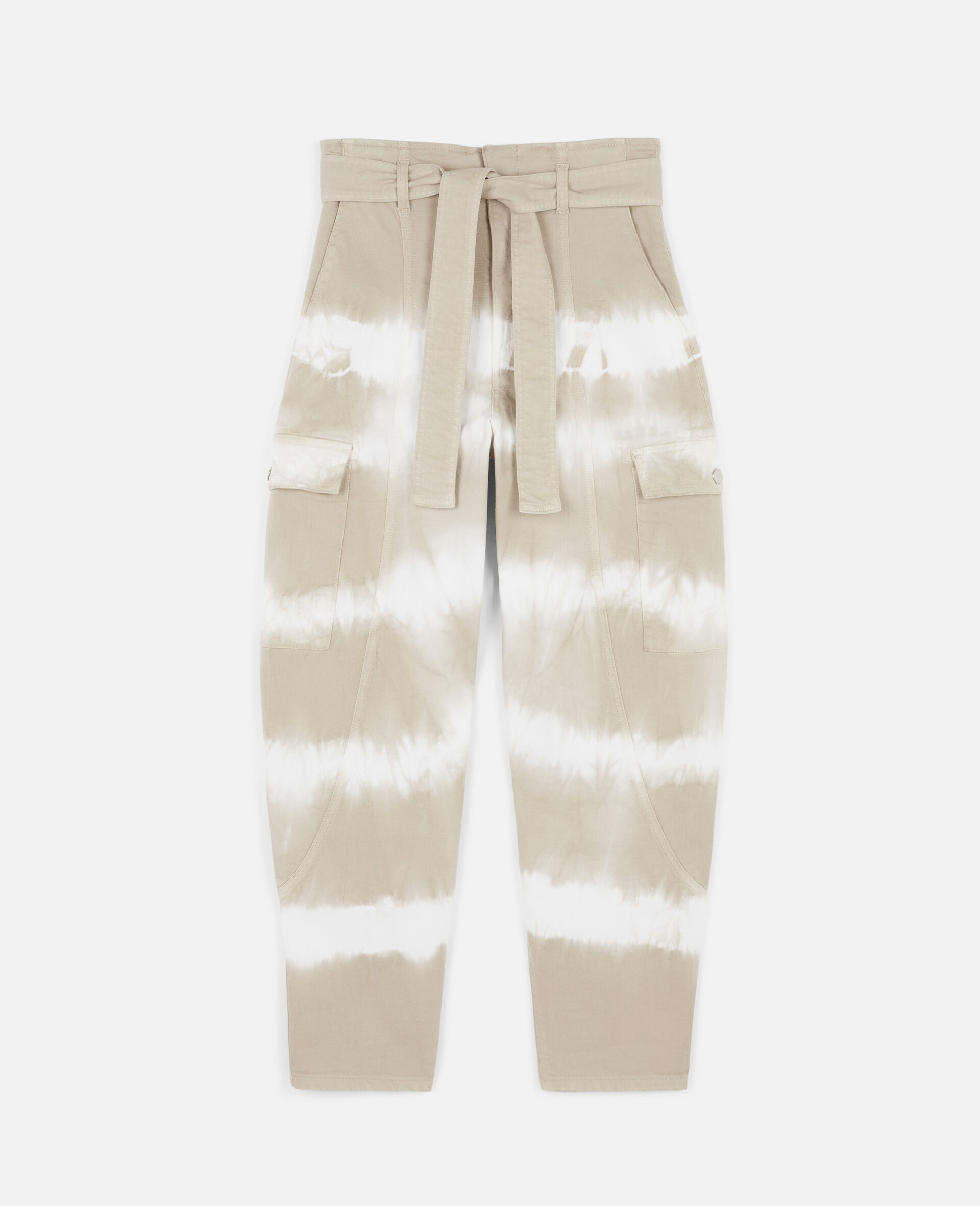 Tie-Dye Denim Trousers-Beige-large image number 0
