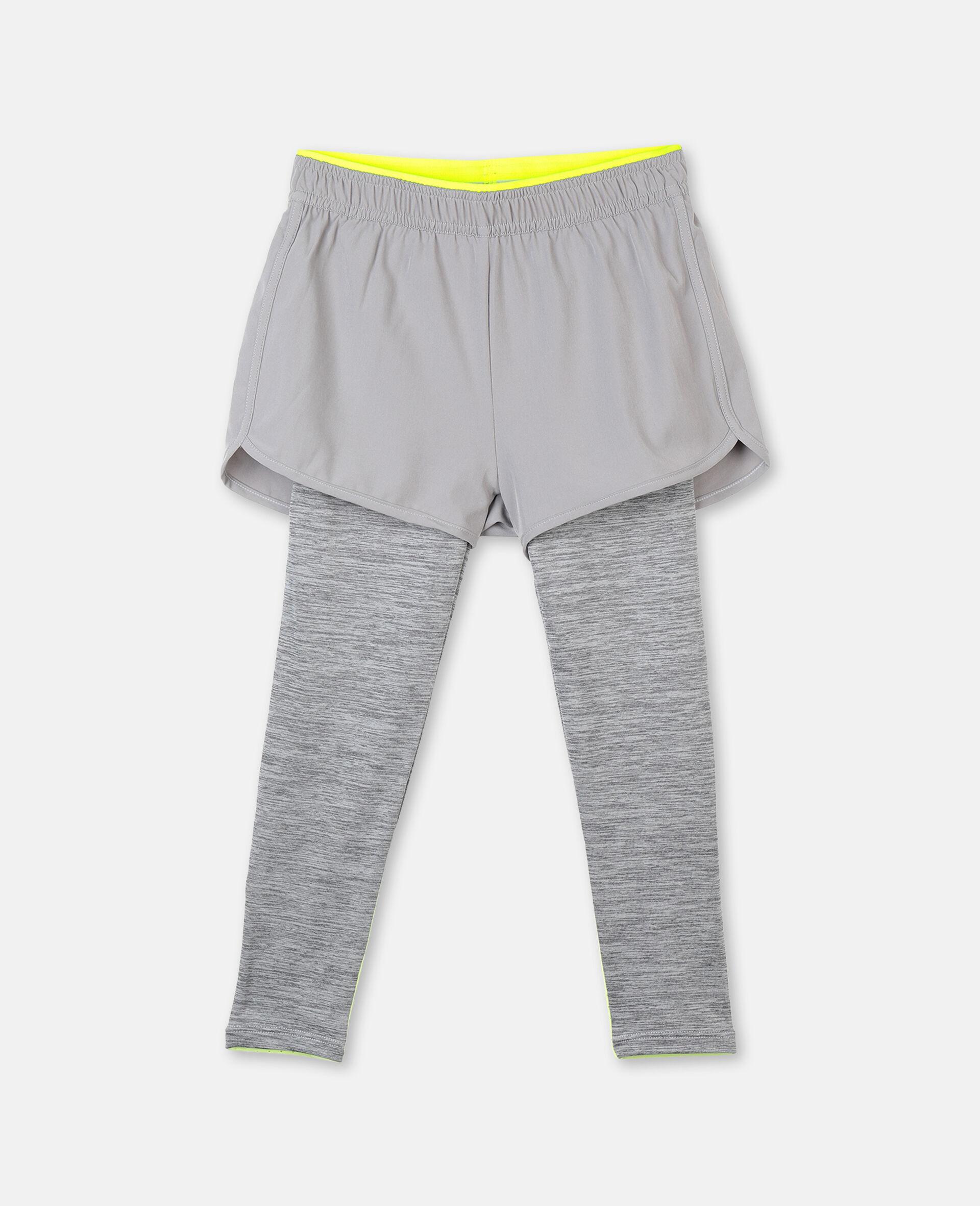 Space Dye Active Leggings -Grey-large image number 0