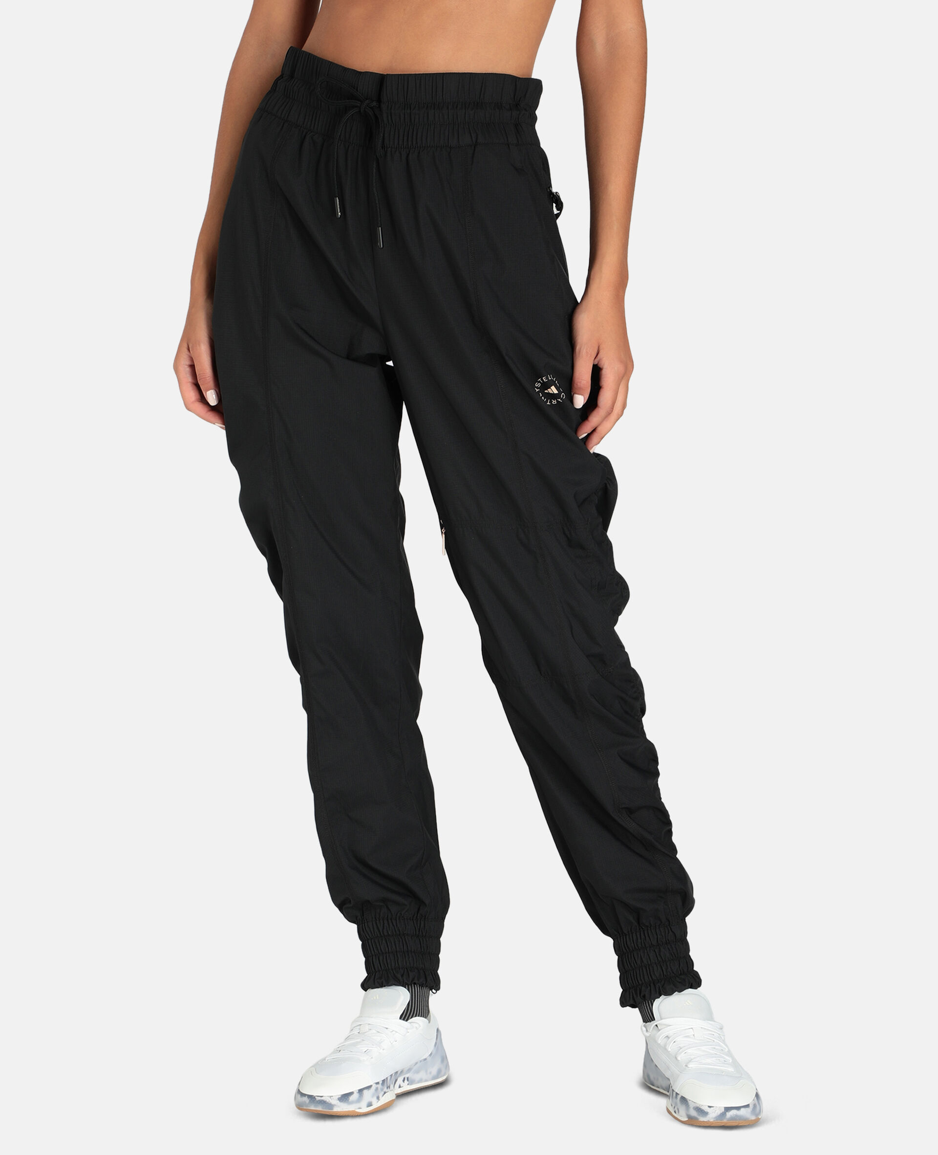 Black Woven Training Pants-Black-large image number 4
