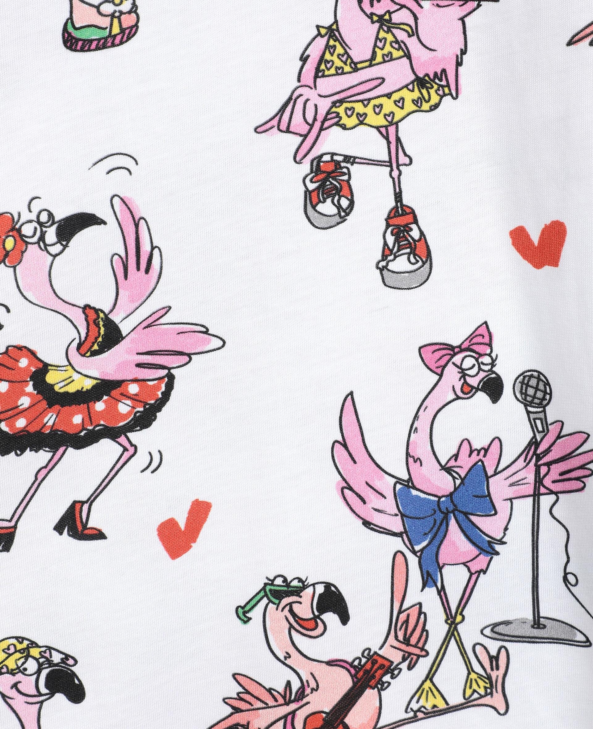 Flamingo Party Cotton Dress-Multicolour-large image number 1