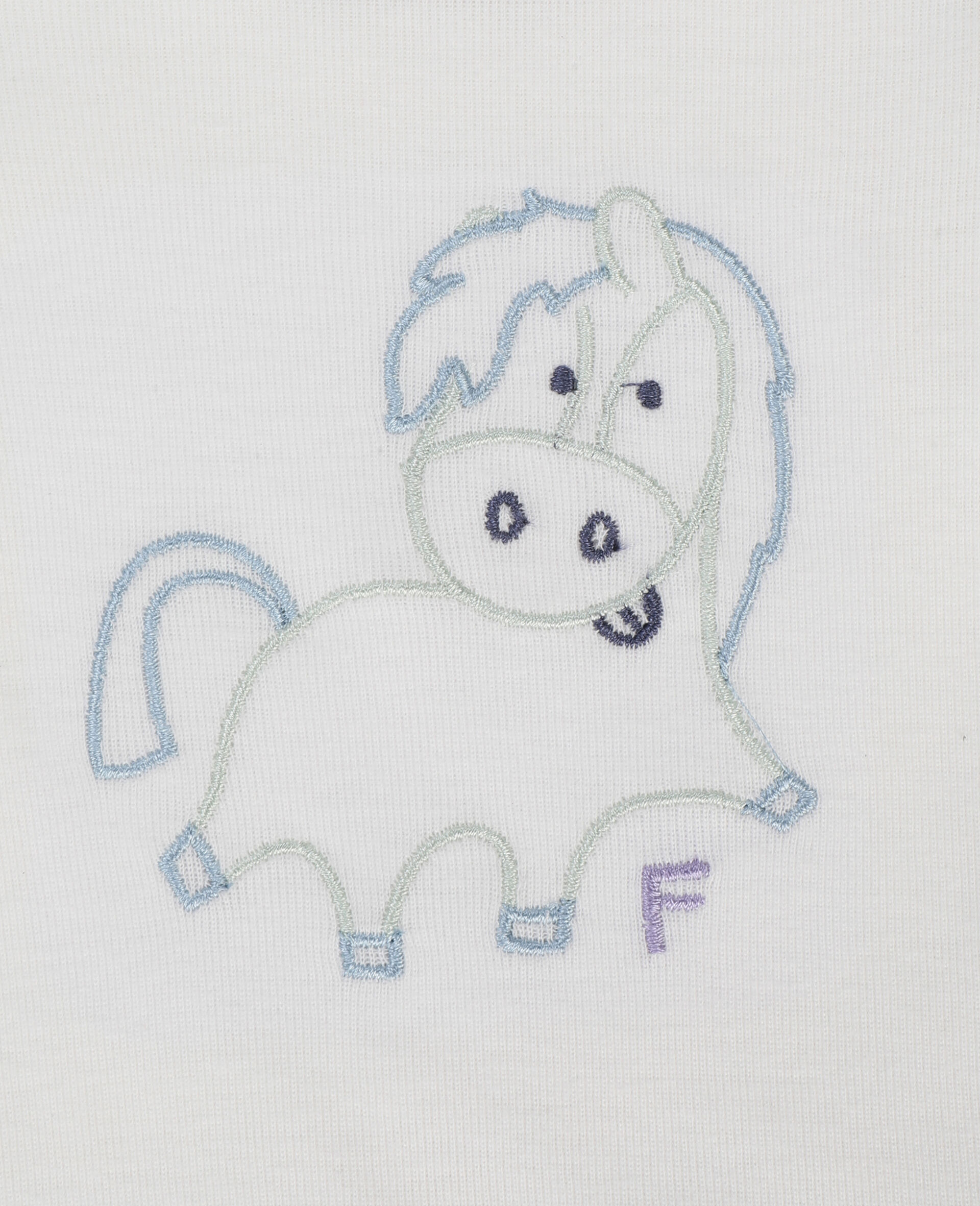 Embroidered Horses Week Rib Bodies Set-White-large image number 2