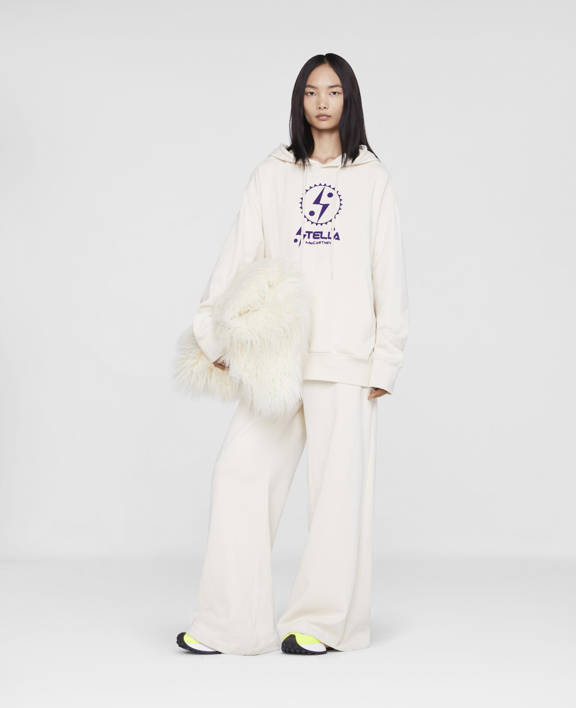 Stella Logo Sweatpants -White-large image number 3