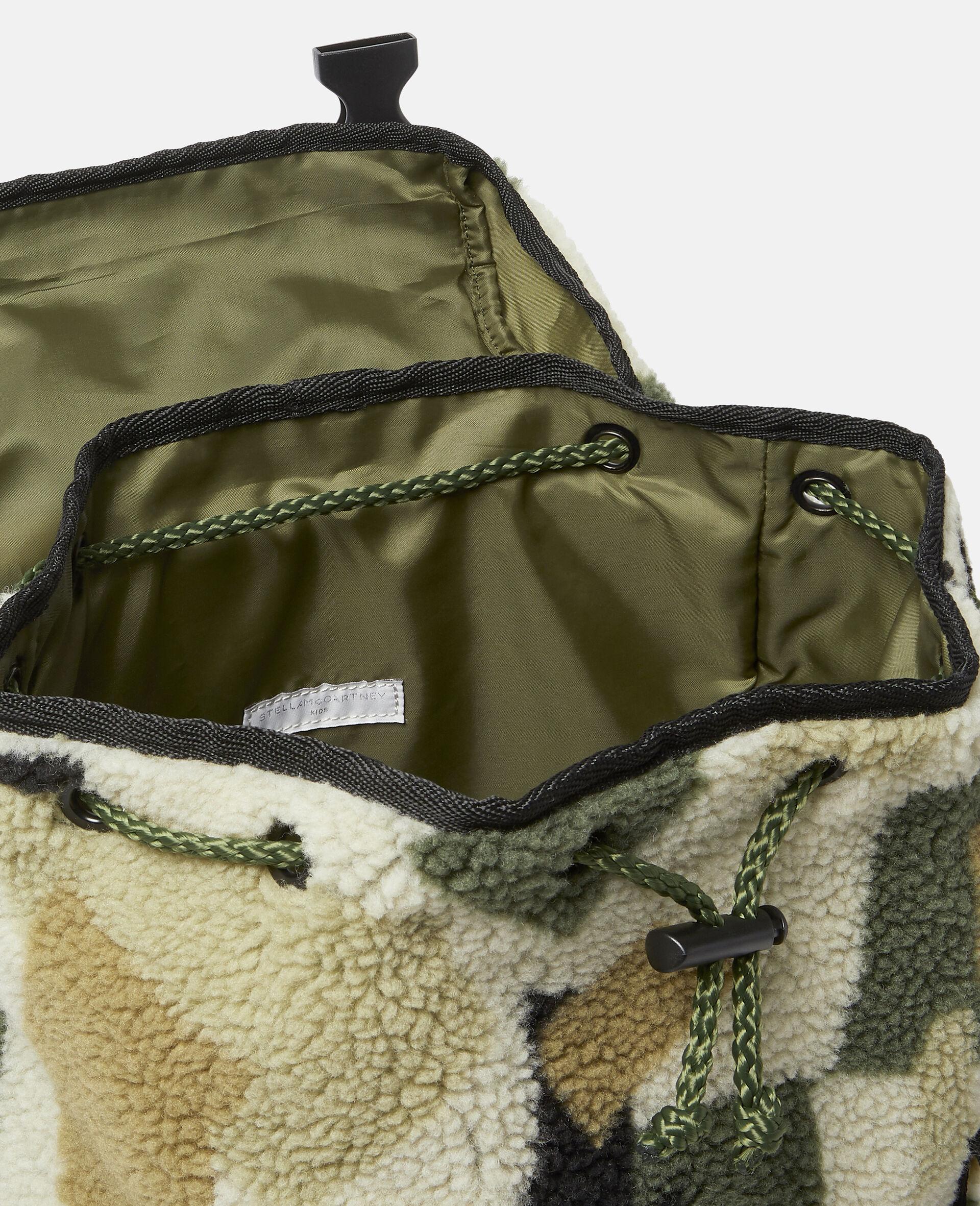 Teddy-Rucksack im Military-Stil mit Camouflage-Print-Beige-large image number 2