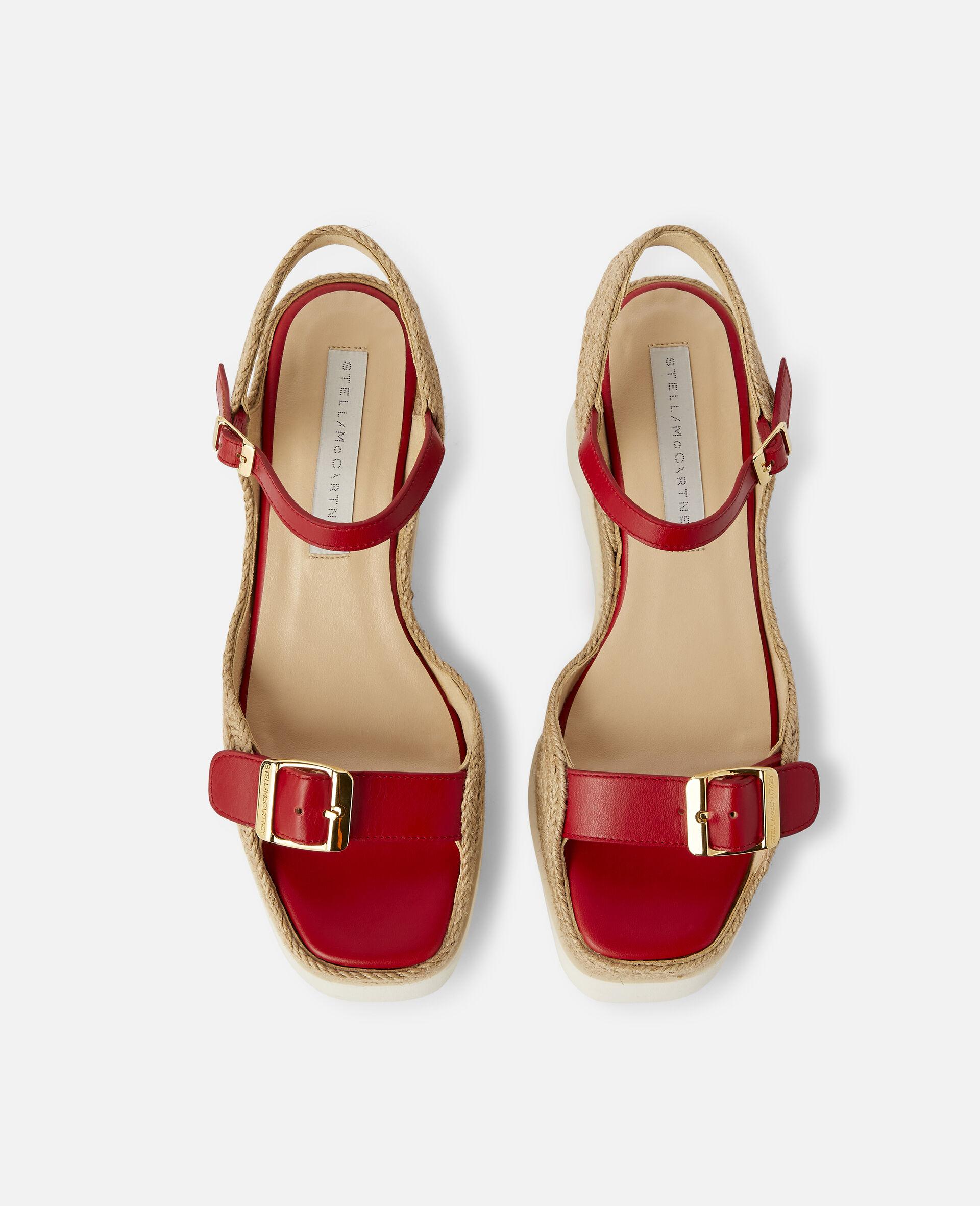 Elyse Platform Sandals -Red-large image number 3