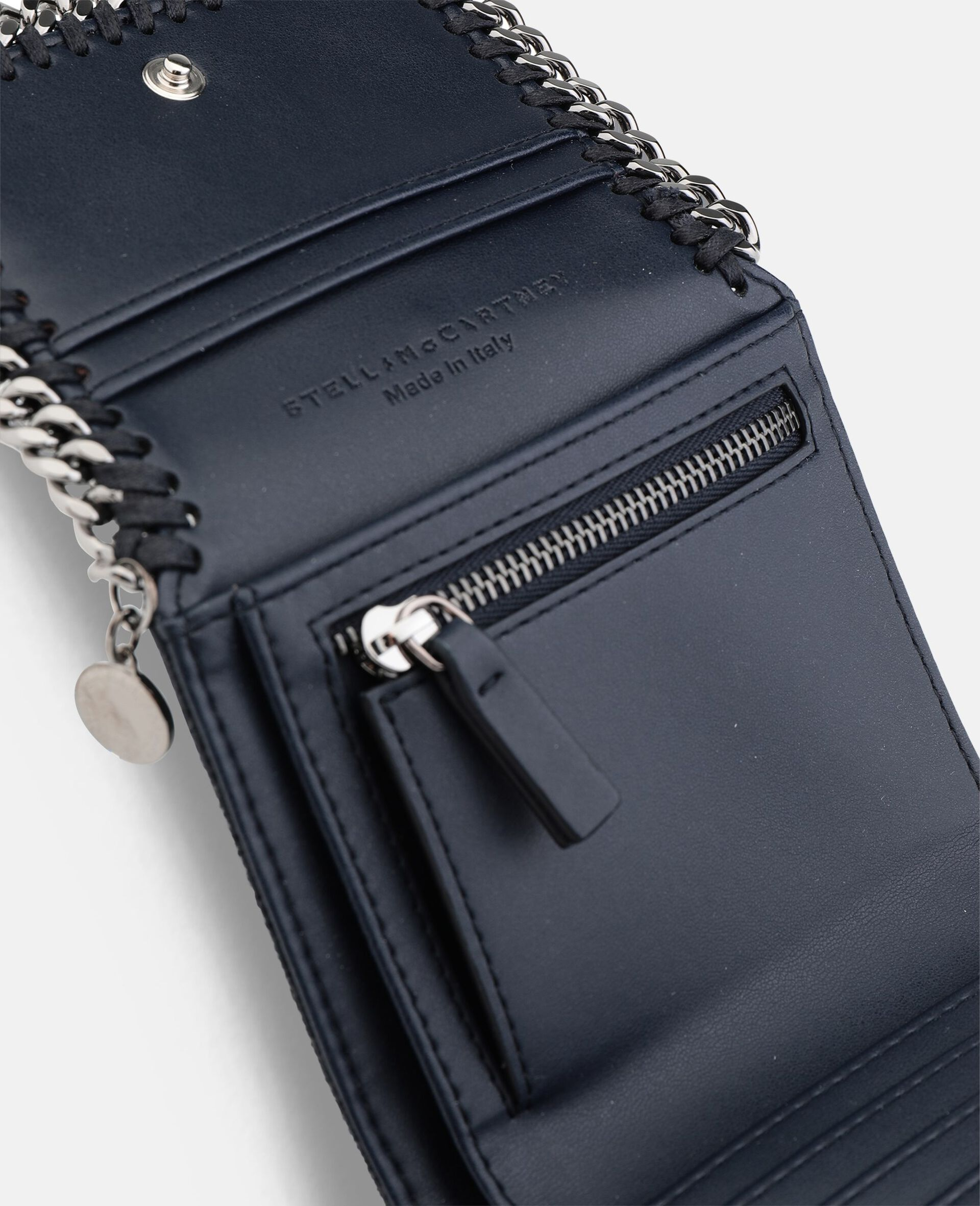 Petit portefeuille à rabat Falabella-Gris-large image number 2