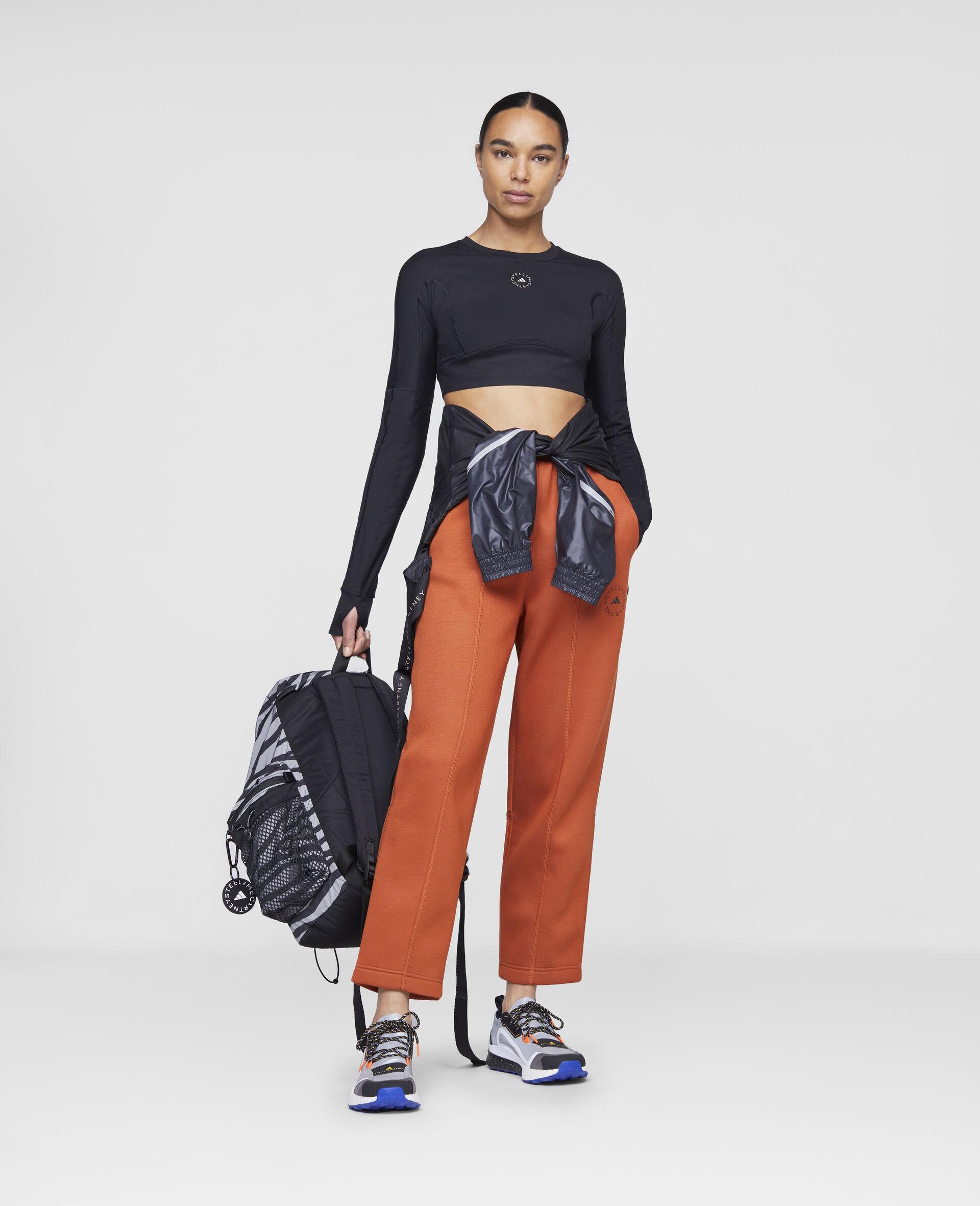 Burnt Brick Track Pants-Orange-large image number 1