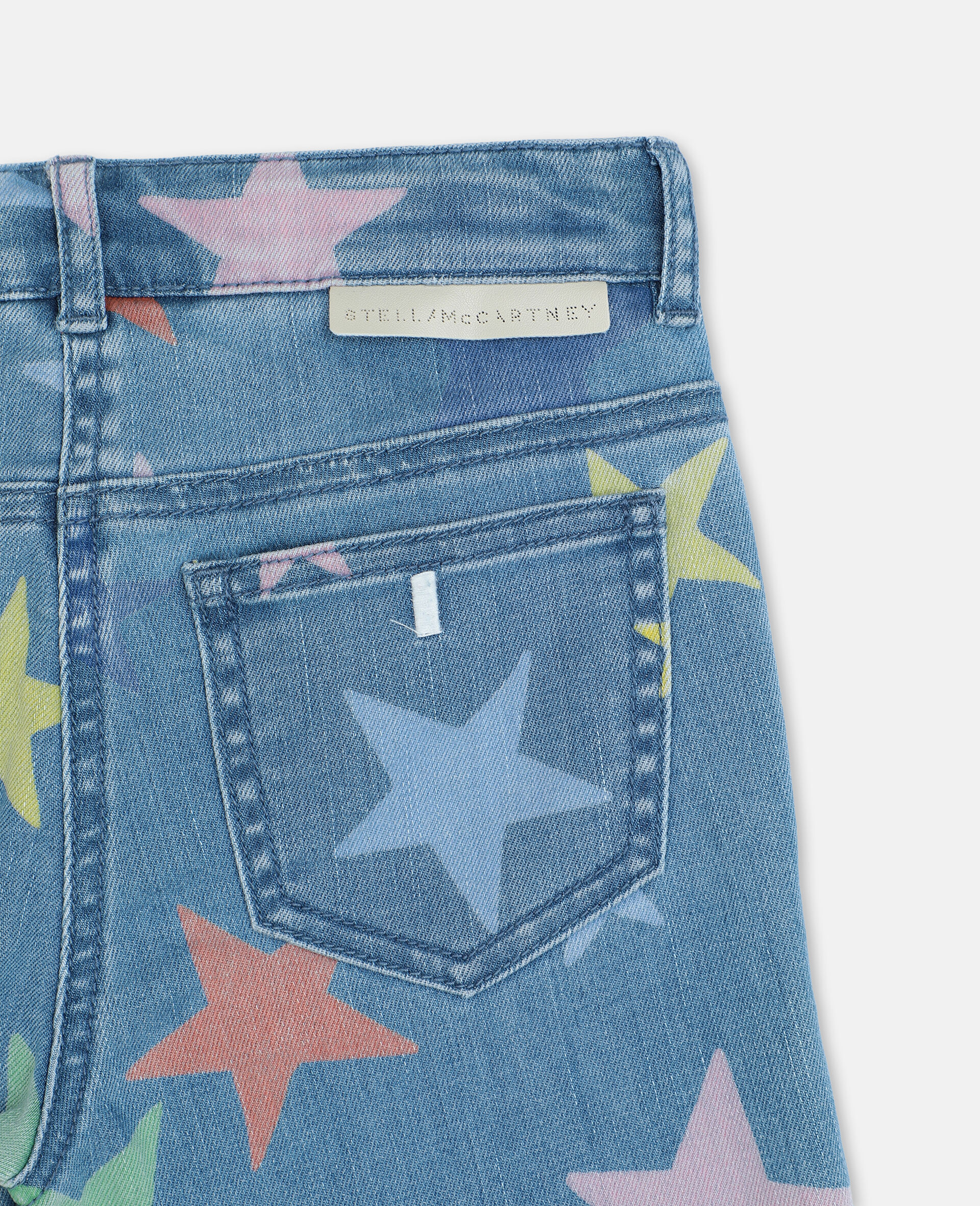 Stars多色紧身牛仔裤-Multicolored-large image number 2