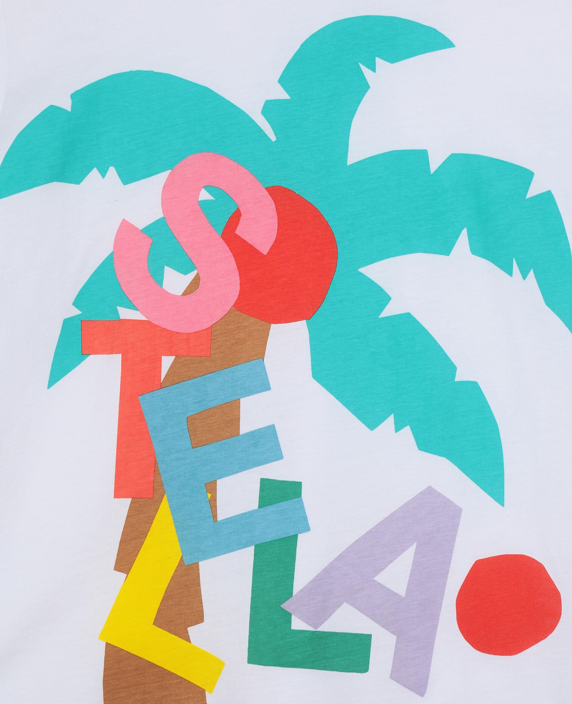 T-shirt oversize avec motif carte postale-Blanc-large image number 2