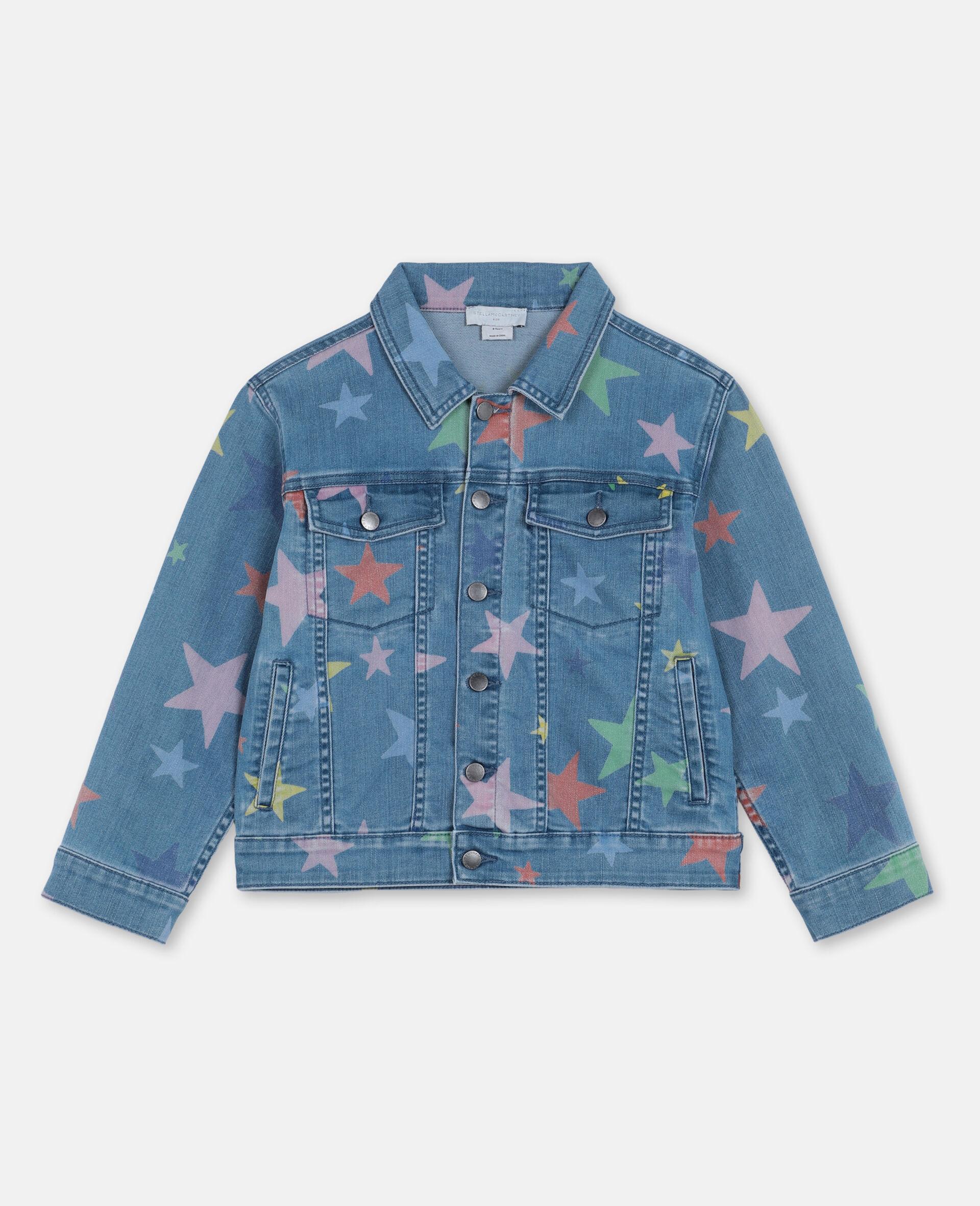 Veste en denim avec étoiles multicolores -Fantaisie-large image number 0