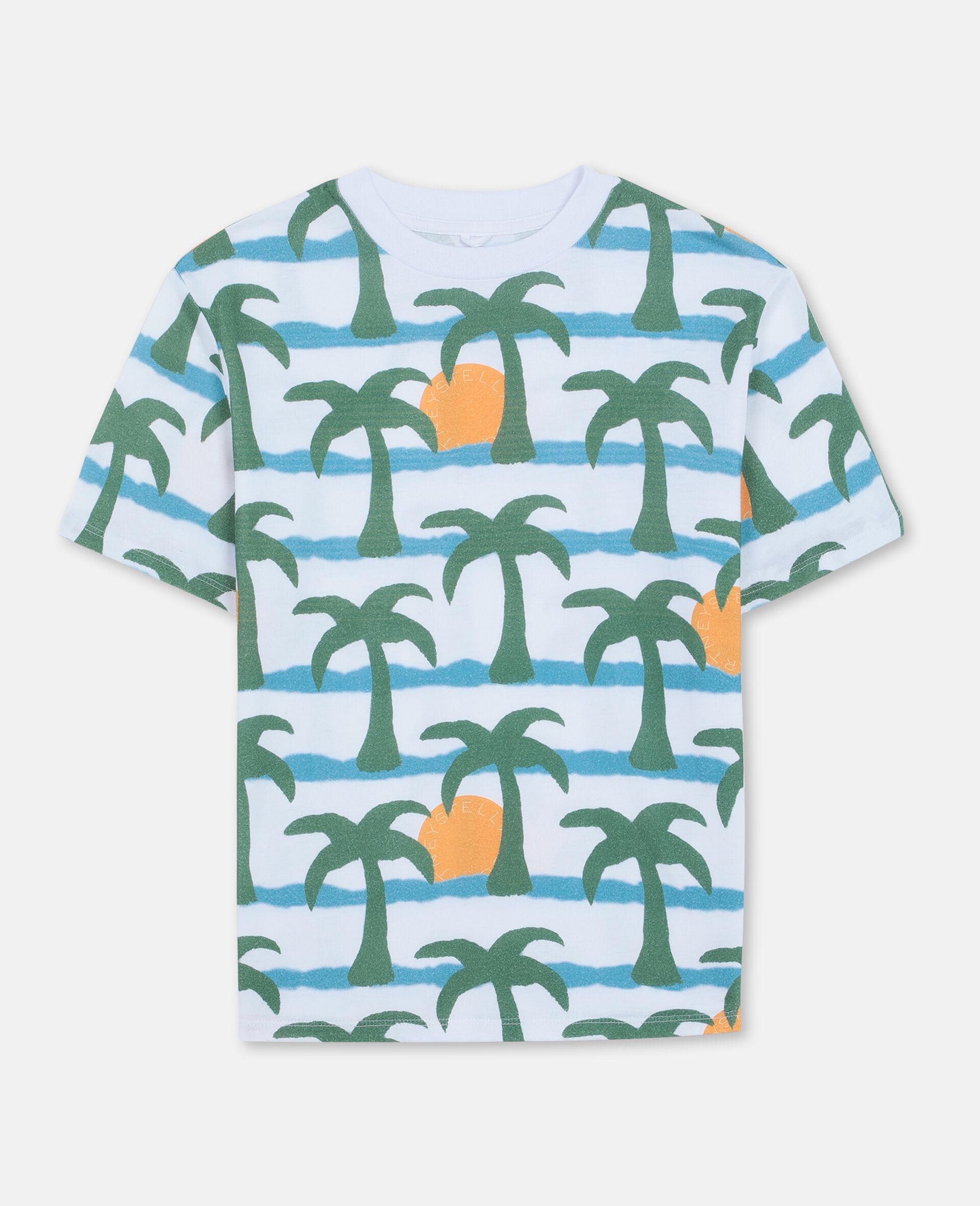 Oversize Palm Cotton T-shirt -Multicoloured-large image number 0