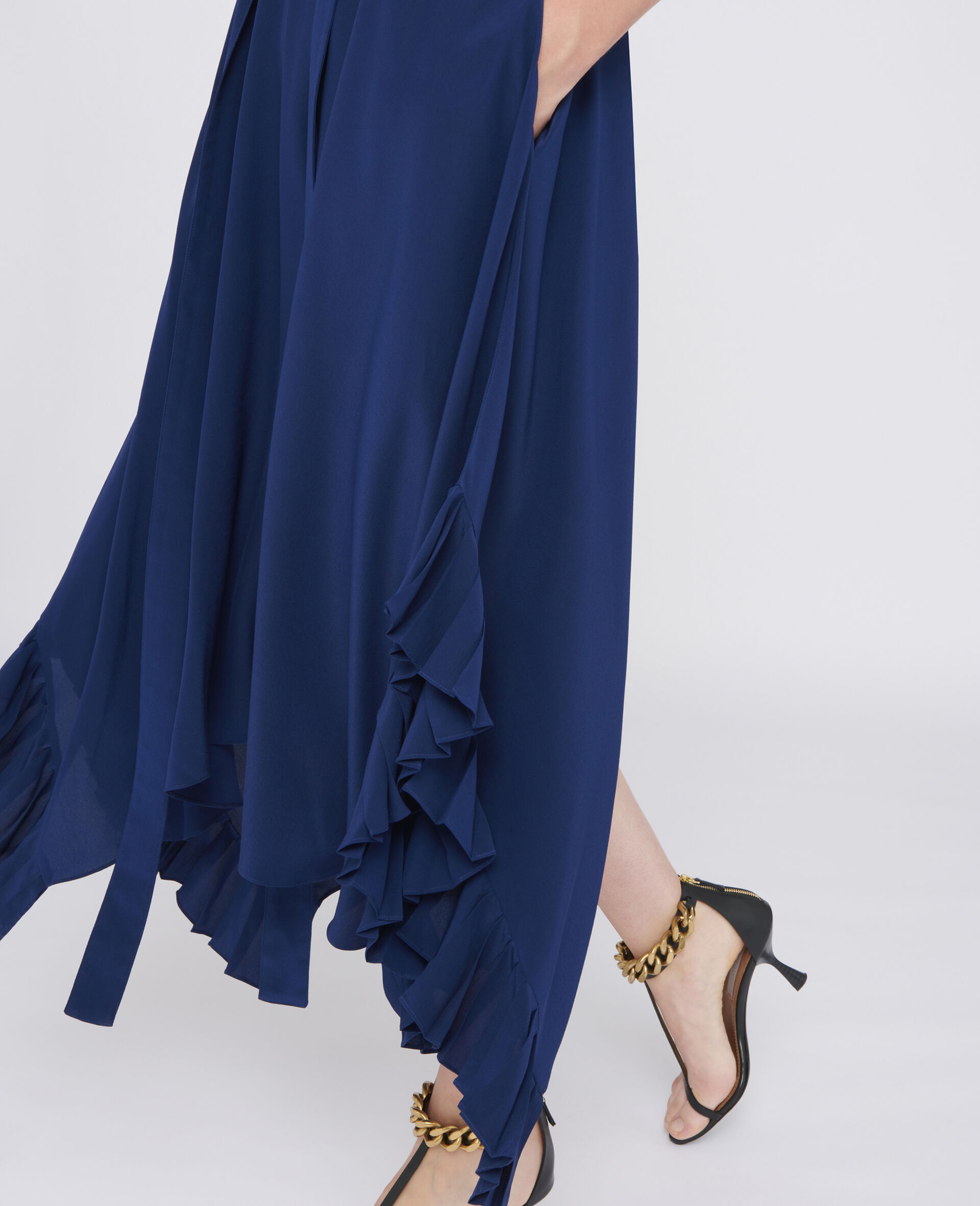 Ophelia Silk Dress-Blue-large image number 3