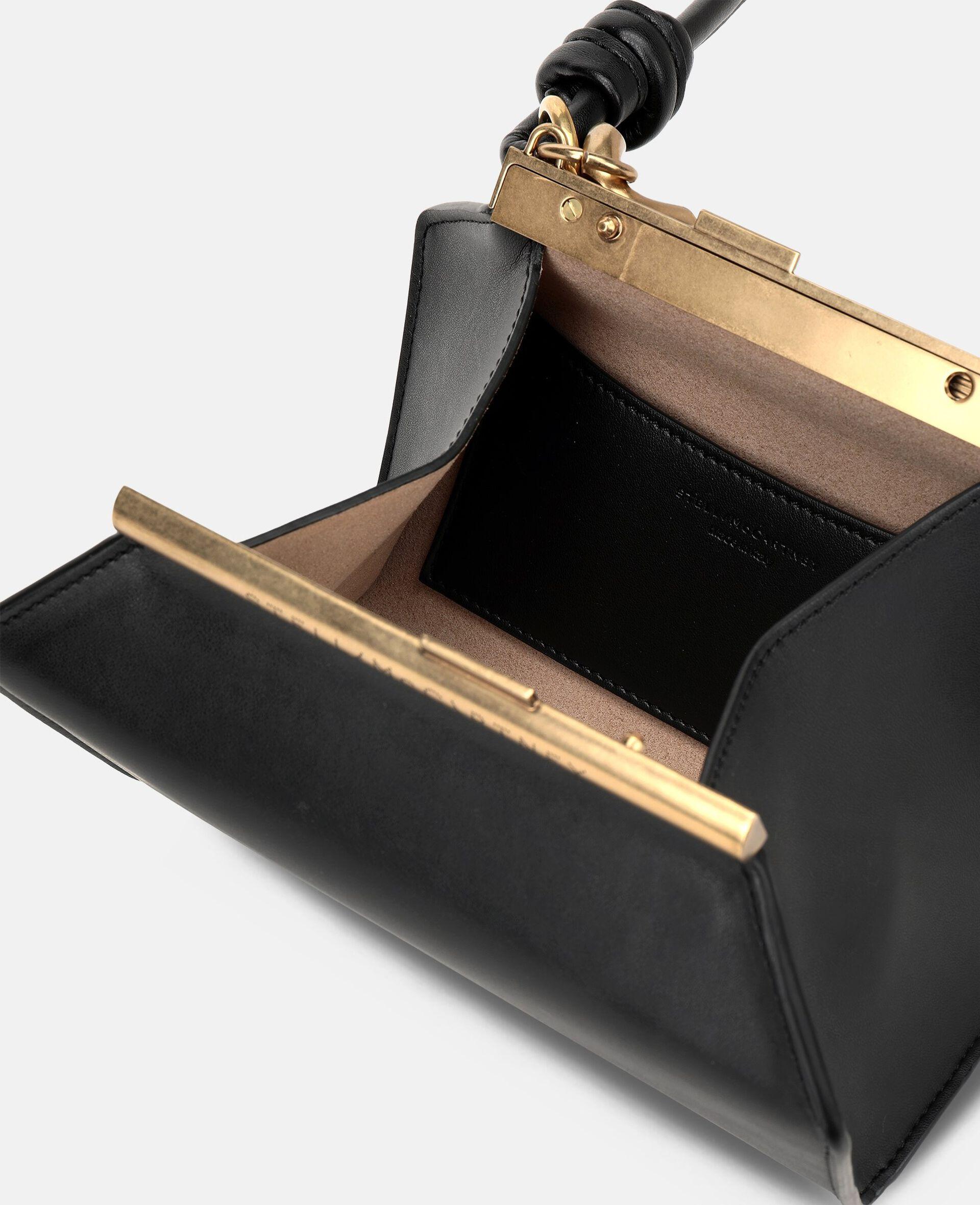 Petit sac avec bandoulière chaîne épaisse-Noir-large image number 3