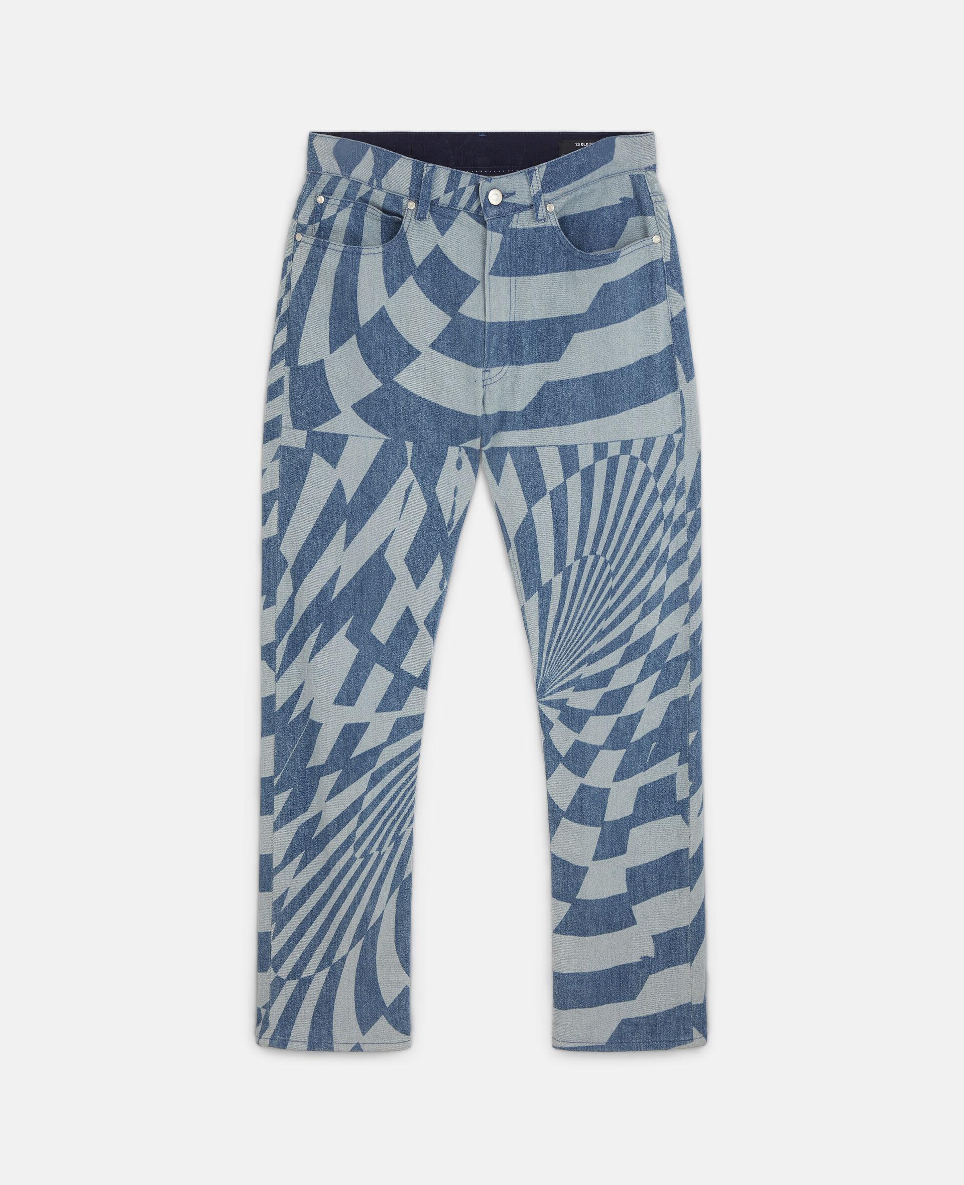 Jeans in Denim Psichedelici Ed Curtis-Blu-large image number 0