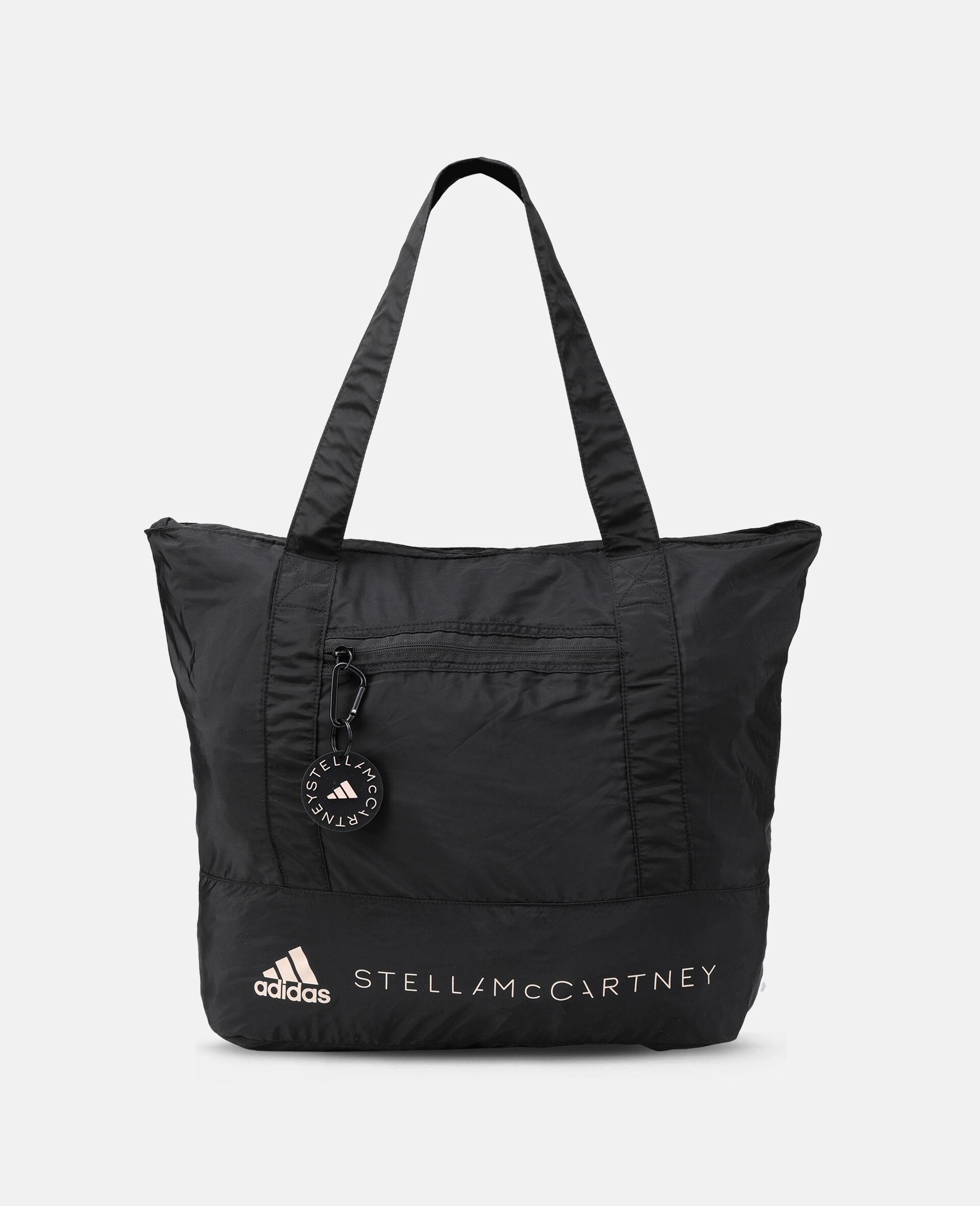 Black Printed Tote Bag -Black-large image number 0