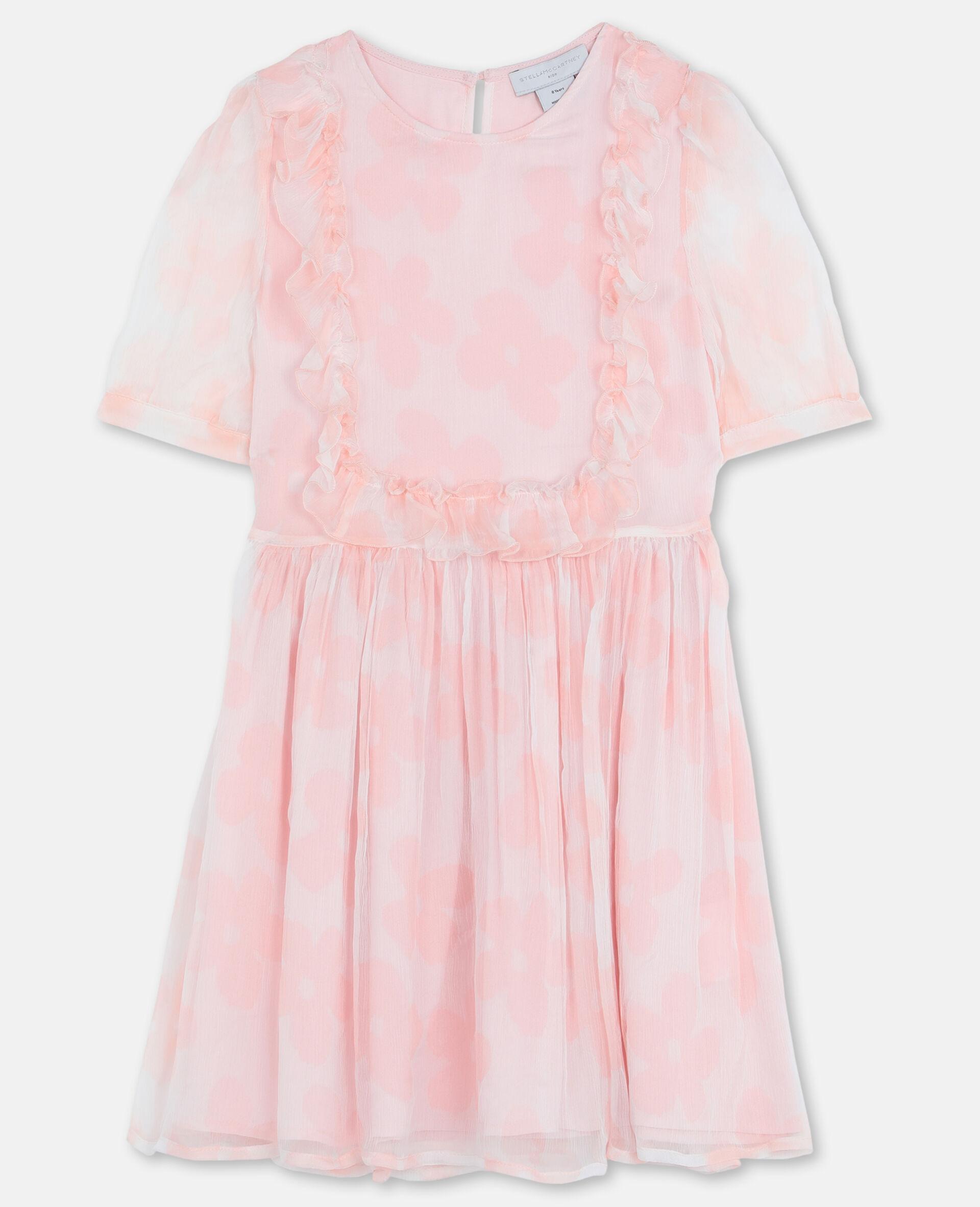 Kleid aus Seiden-Georgette mit Blumen-Rose-large image number 0