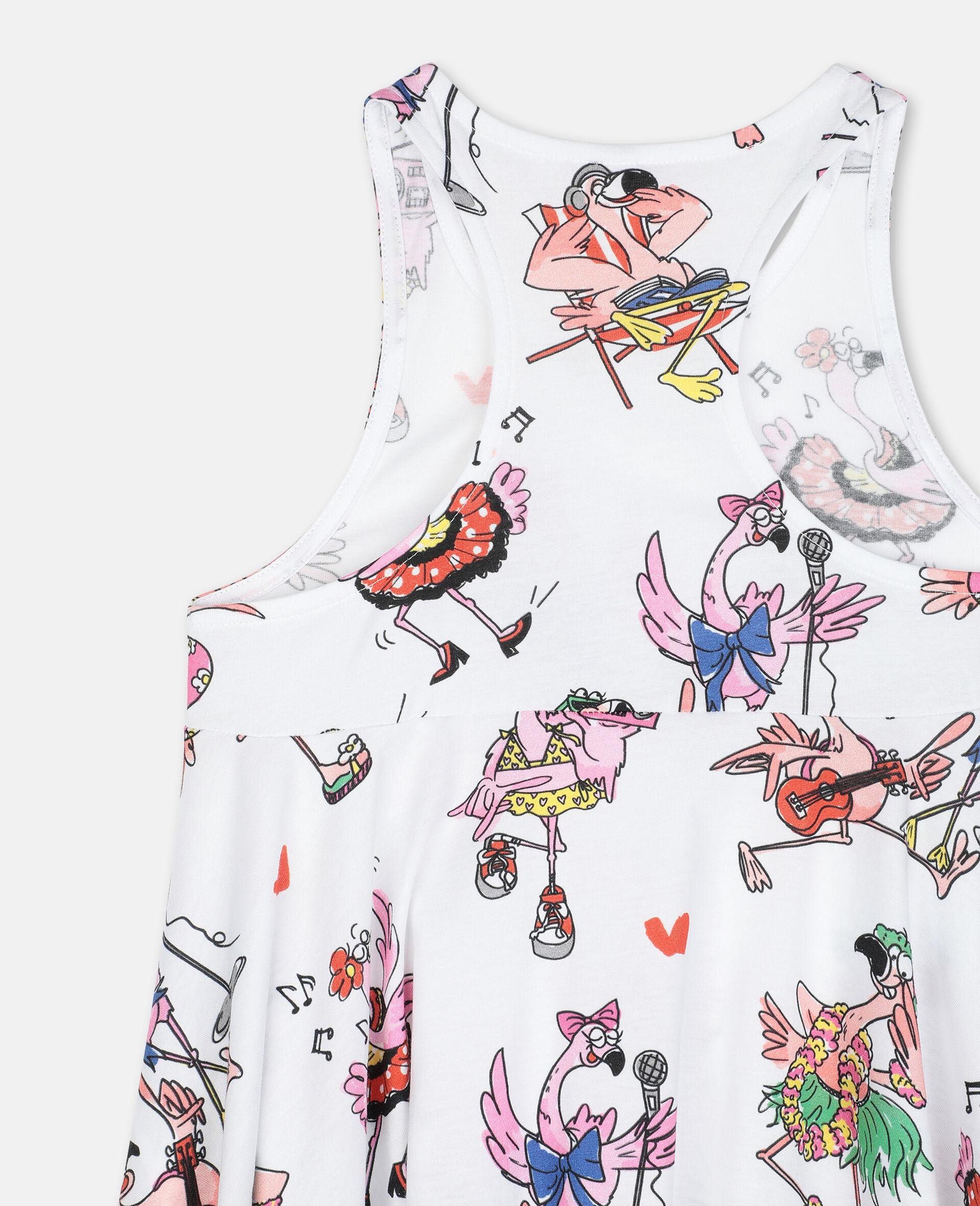 Flamingo Party Cotton Dress-Multicolour-large image number 2