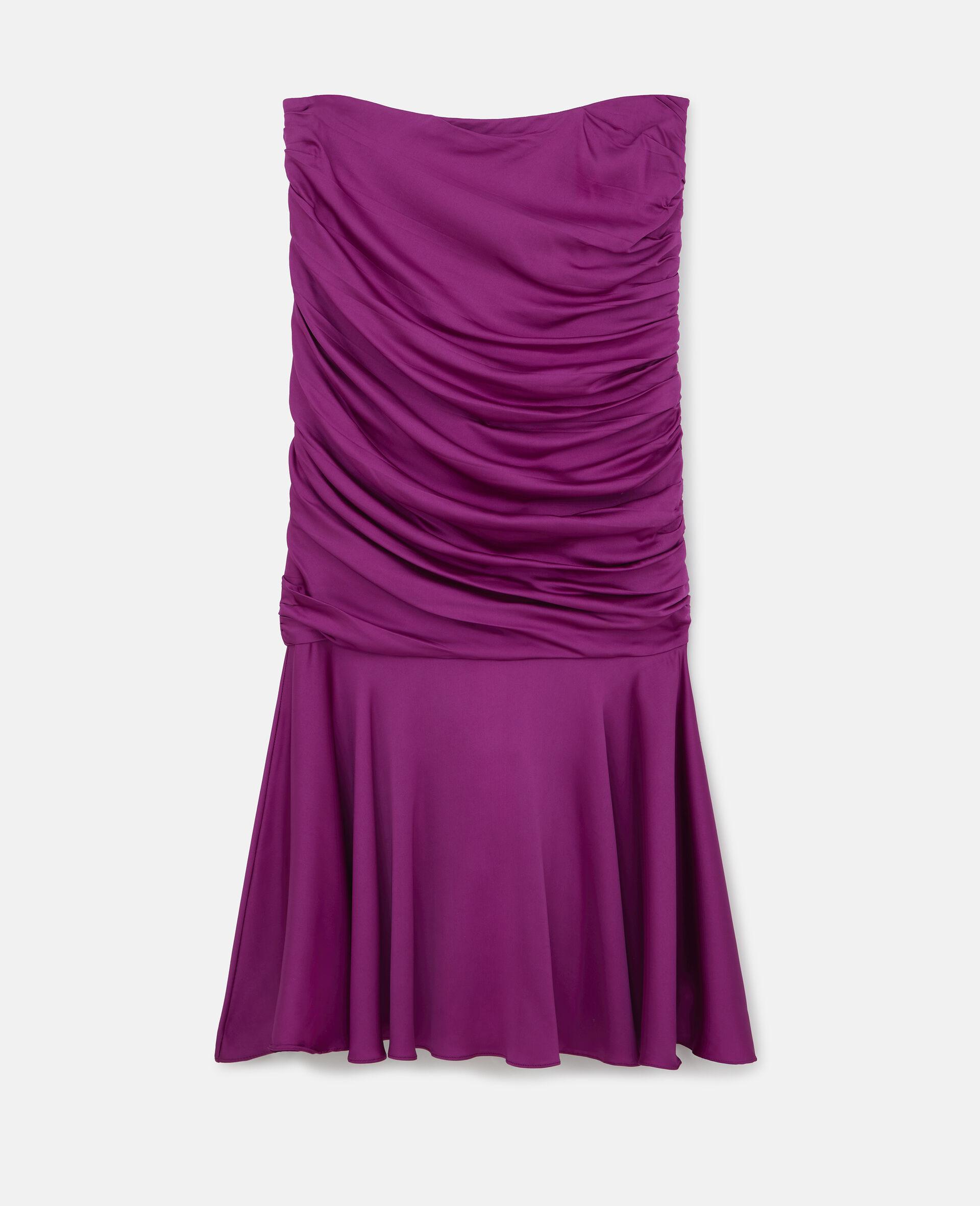 Henley Ruched Godet Skirt-Purple-large image number 0