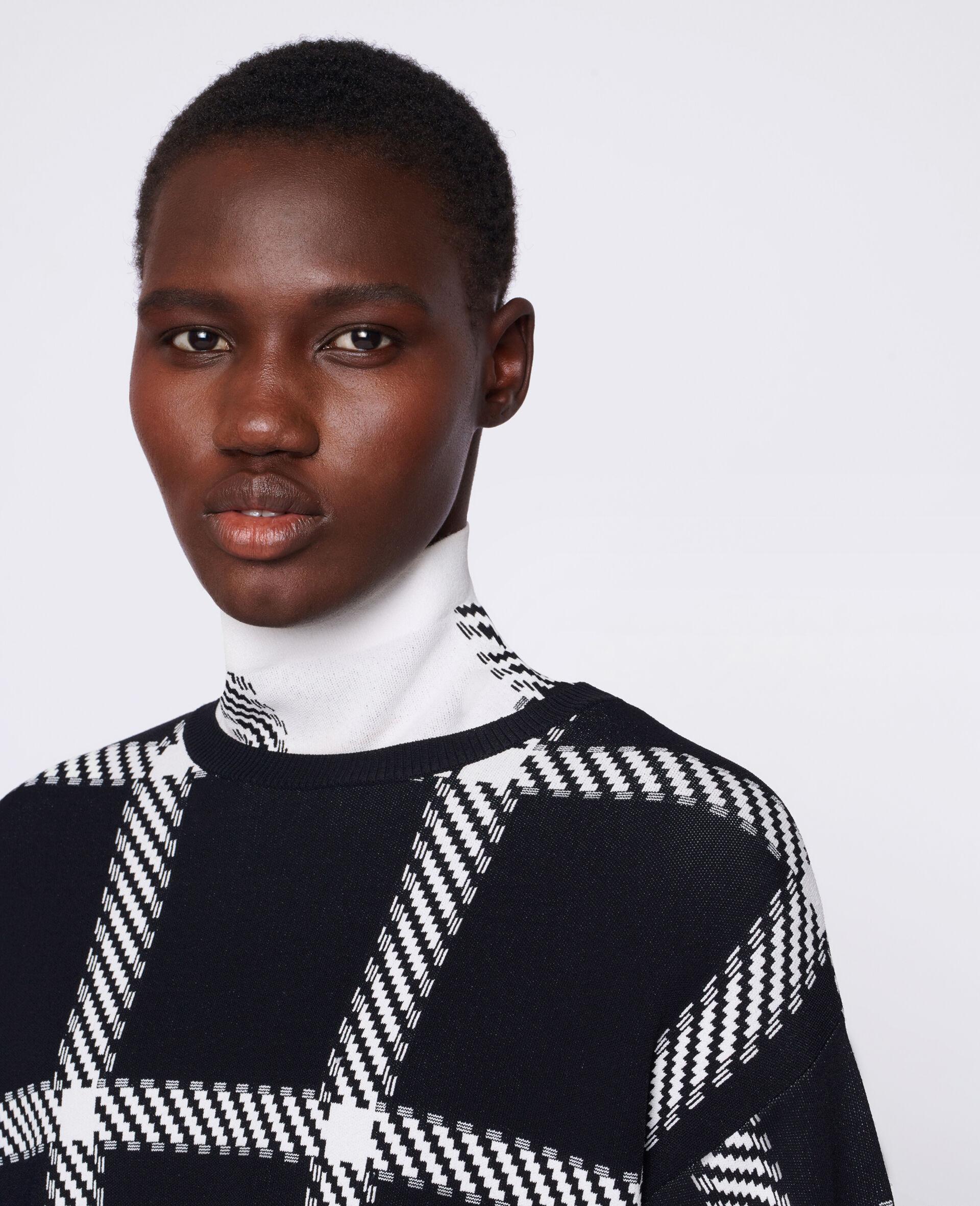 针织格纹套衫-Multicolored-large image number 3