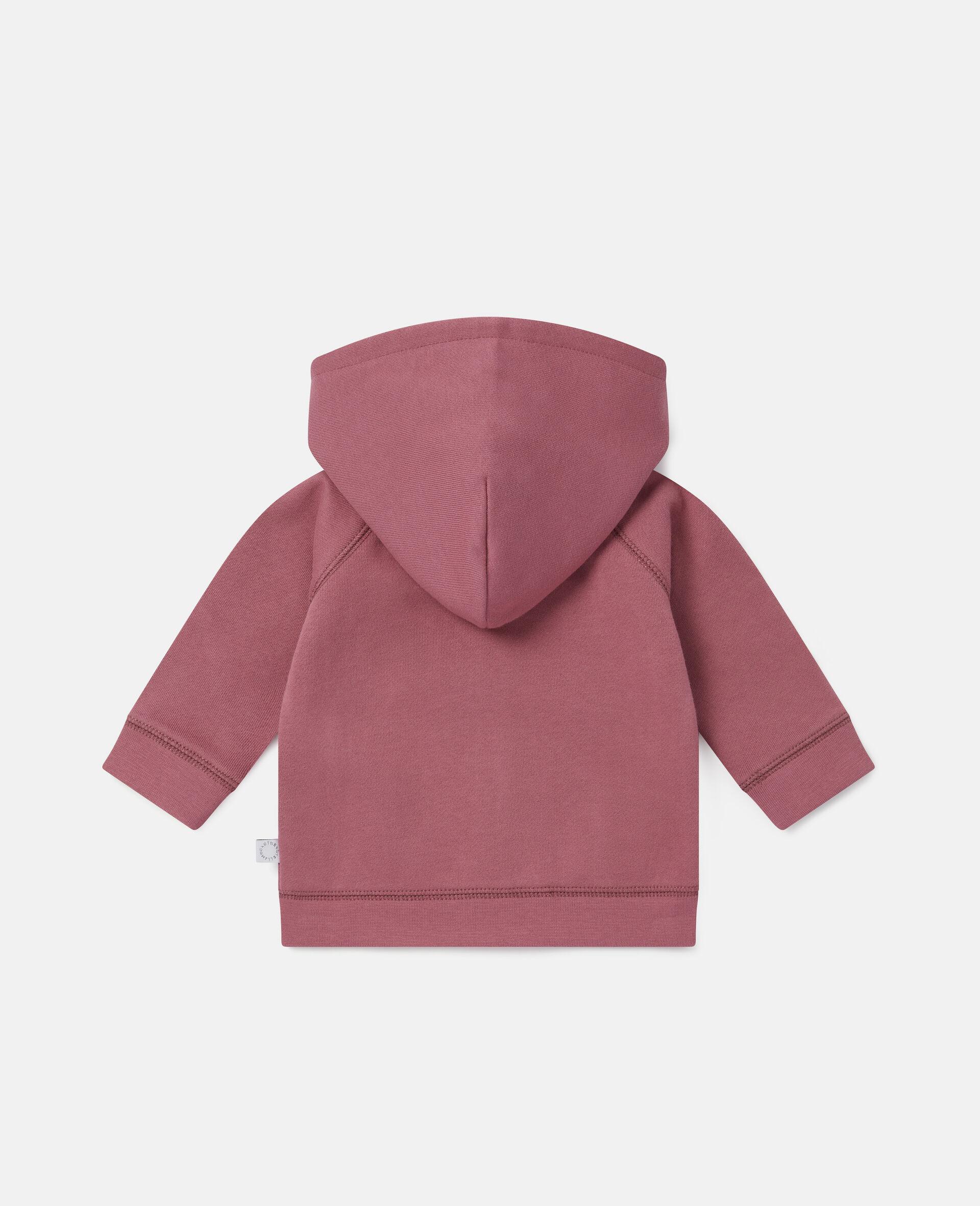Sweatshirt aus Fleece mit Garten-Print-Rot-large image number 3