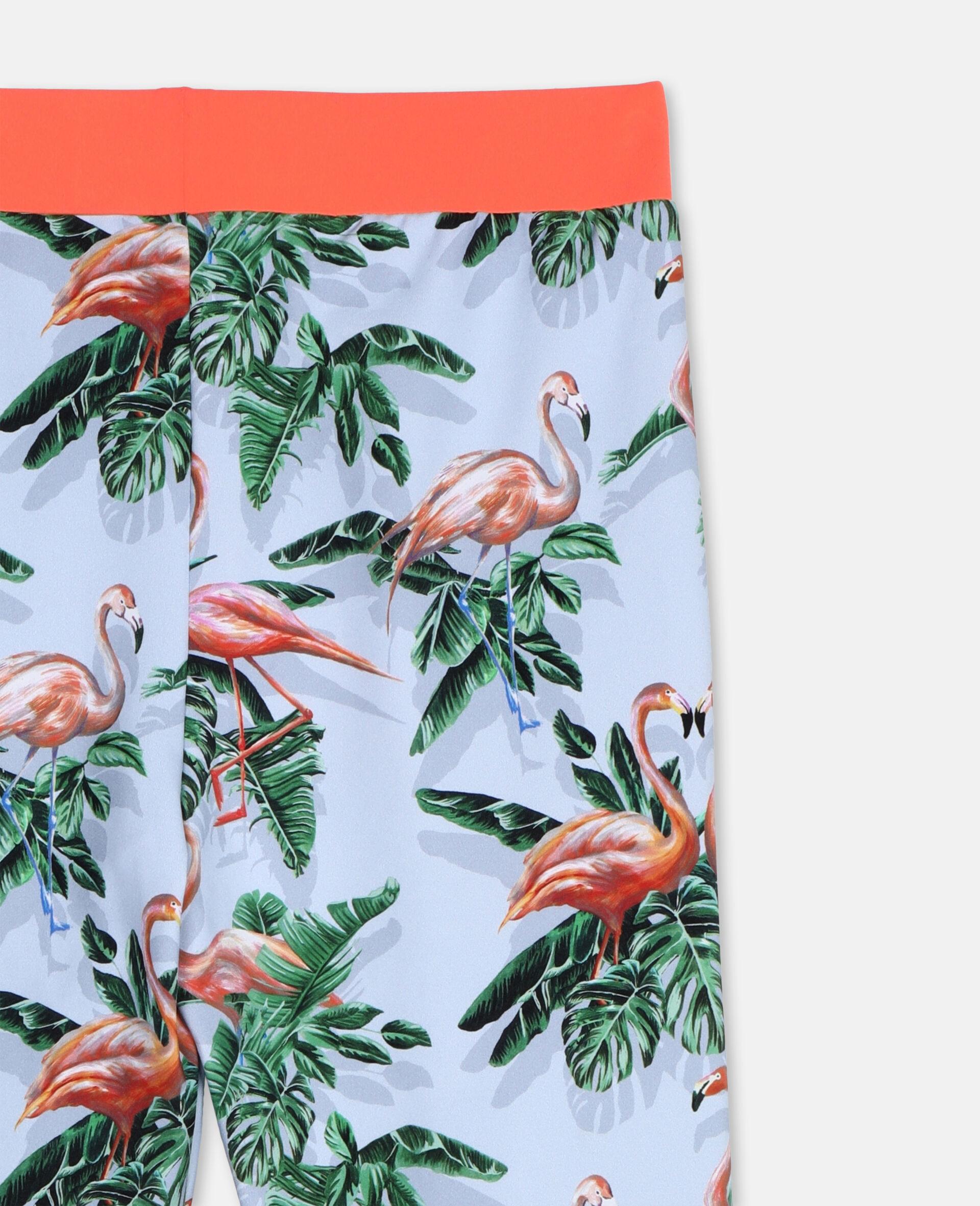Painty Flamingo贴腿裤-绿色-large image number 2