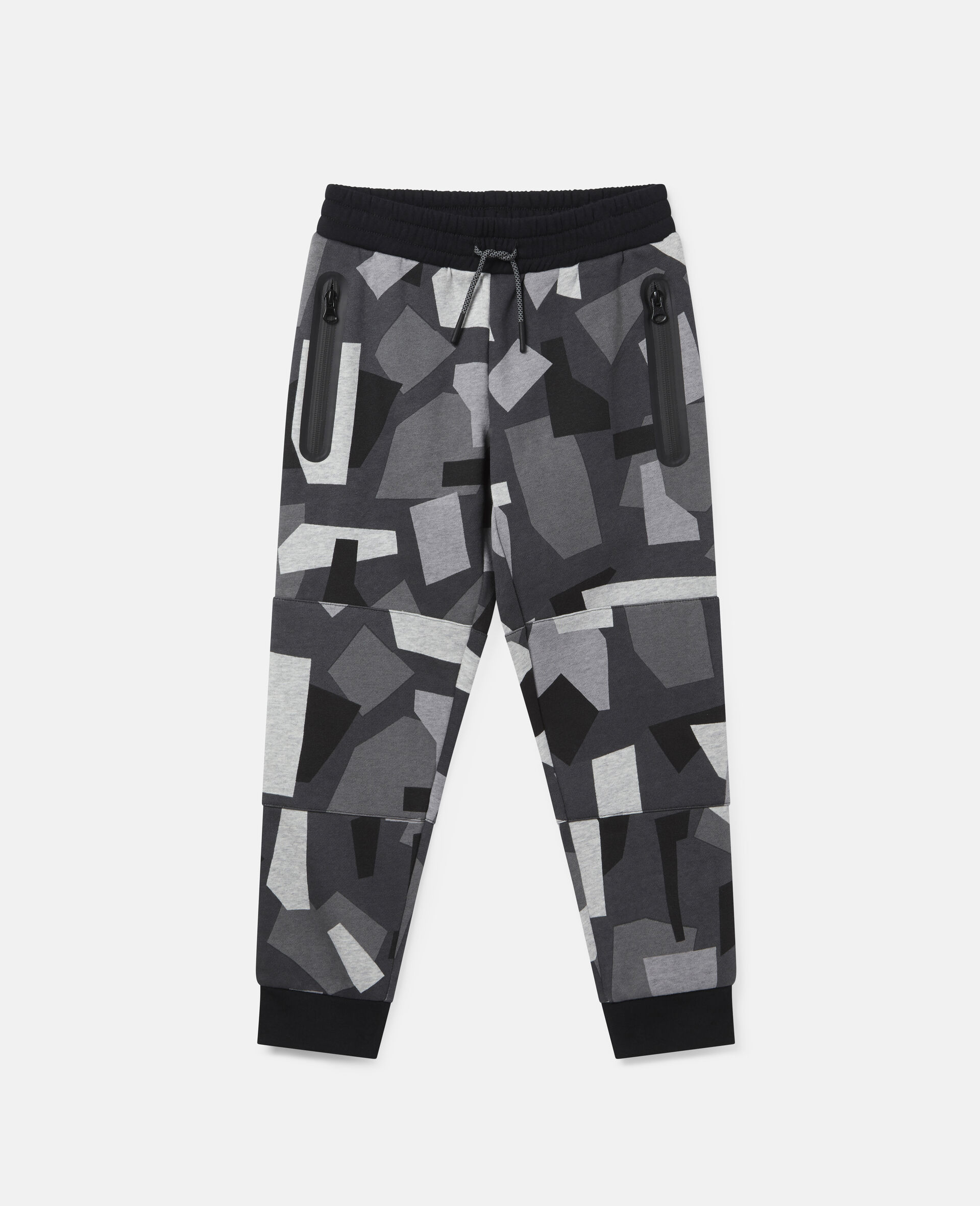 Geometric Camouflage Fleece Joggers-Multicolour-large image number 0