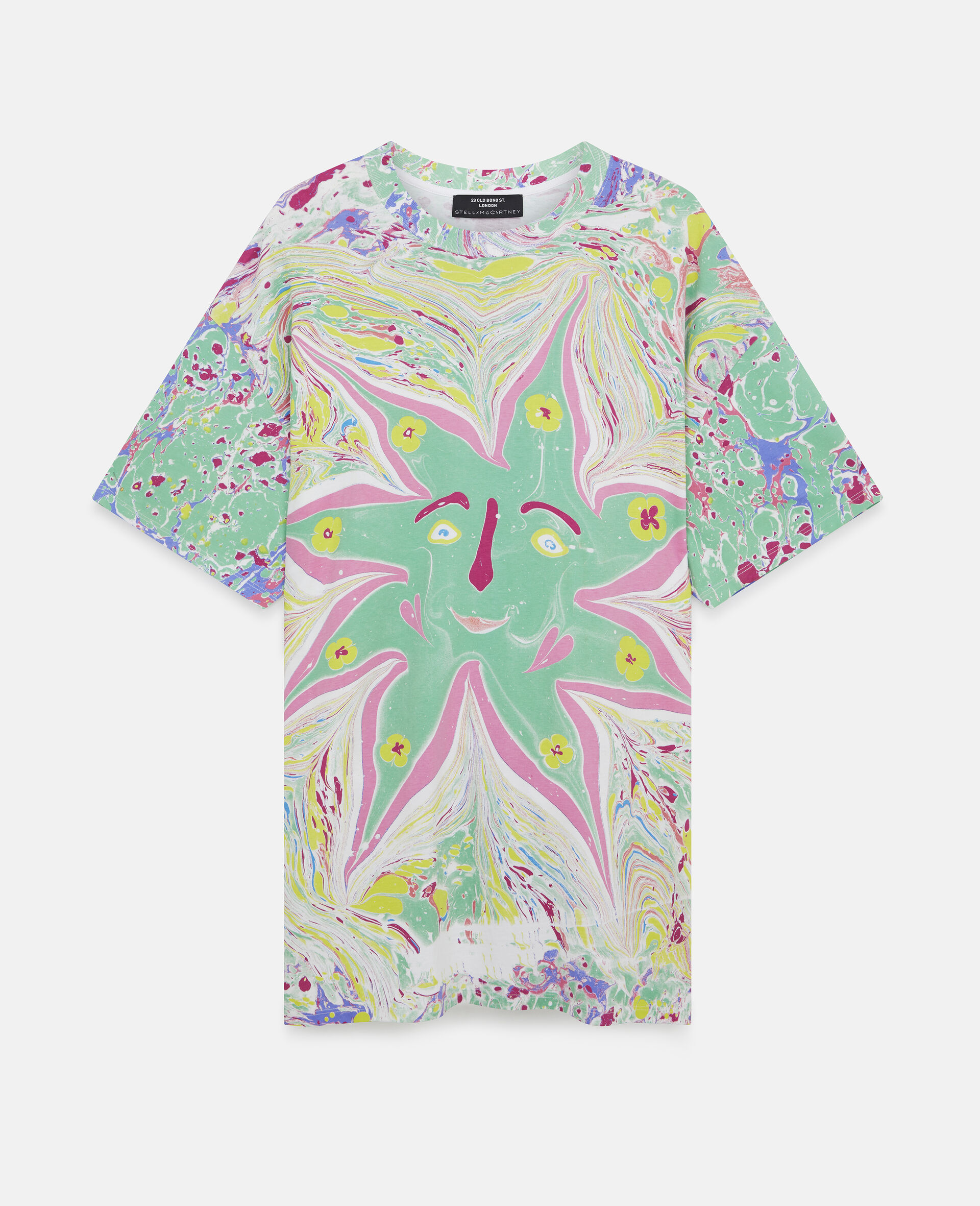 Myfawnwy Printed  T-Shirt Dress-Multicolour-large image number 0