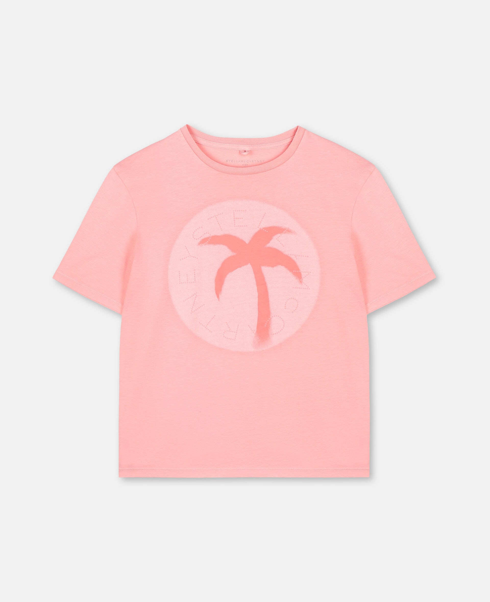 Palm阔型棉质Logo T恤-粉色-large image number 0