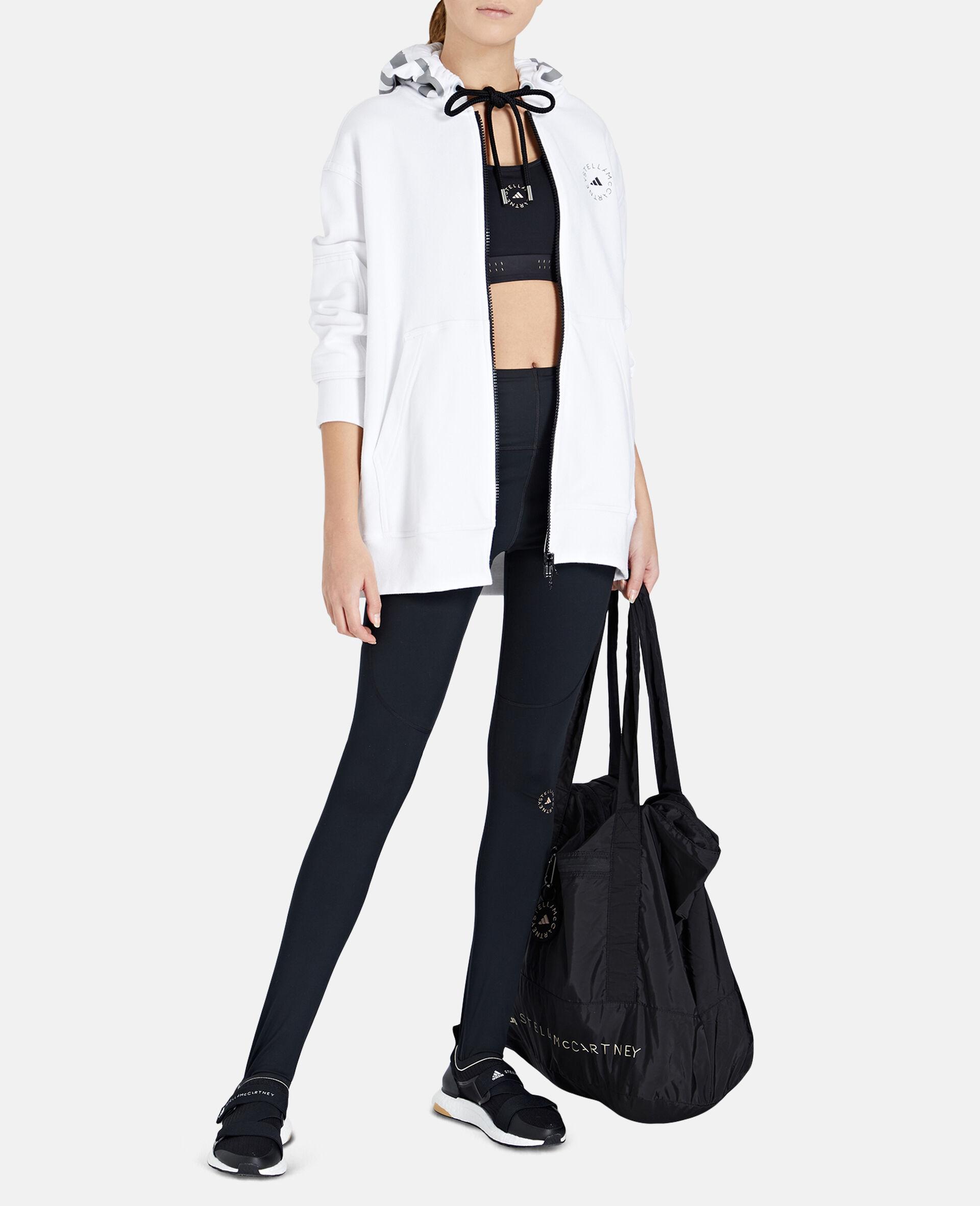 White Full-zipper Hoodie-White-large image number 1