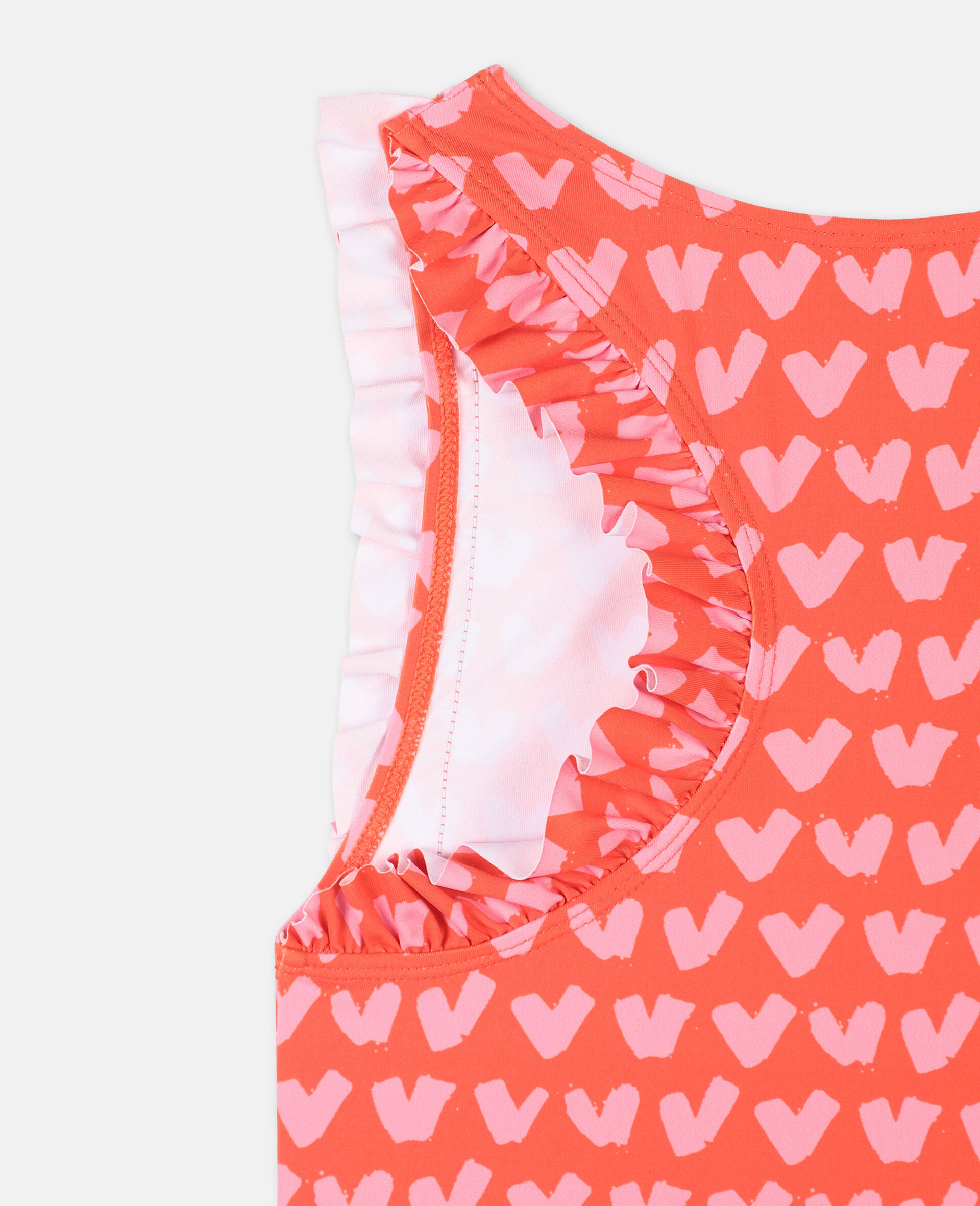 Hearts Red Swimsuit-Red-large image number 2