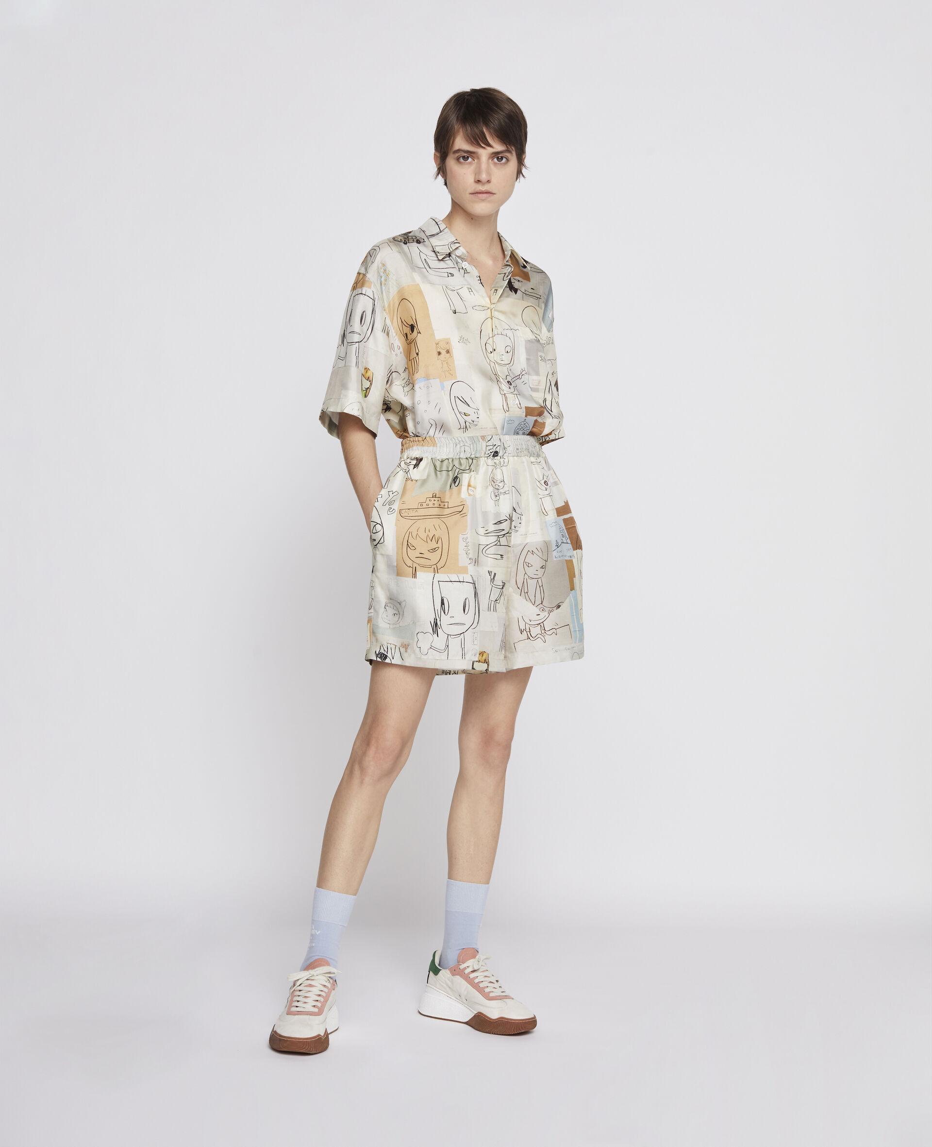 Nara Timothy Silk Shorts-Multicolour-large image number 1