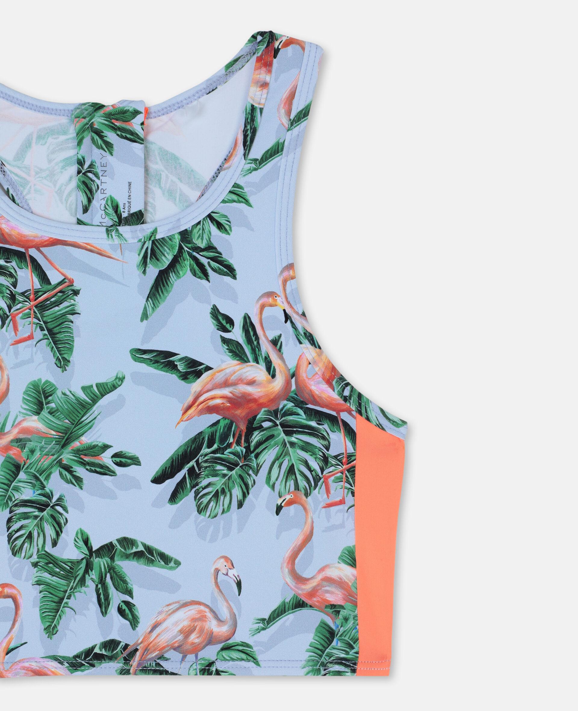 Painty Flamingo Bikini-Green-large image number 1
