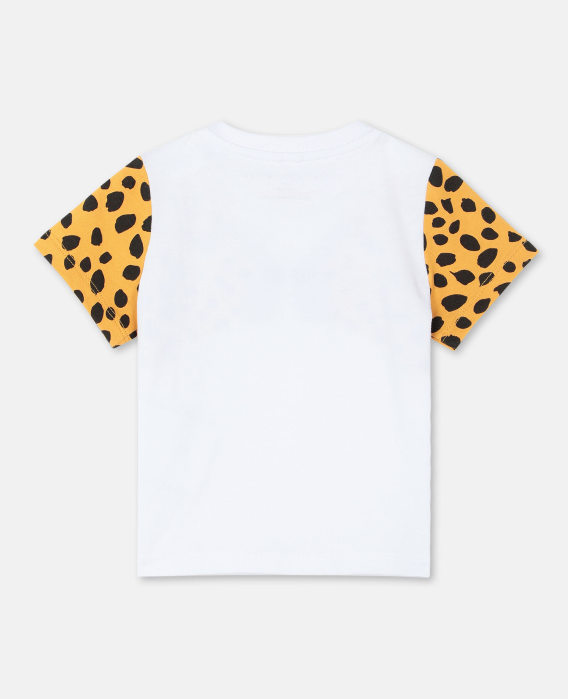Cheetah Cotton T-shirt -White-large image number 3