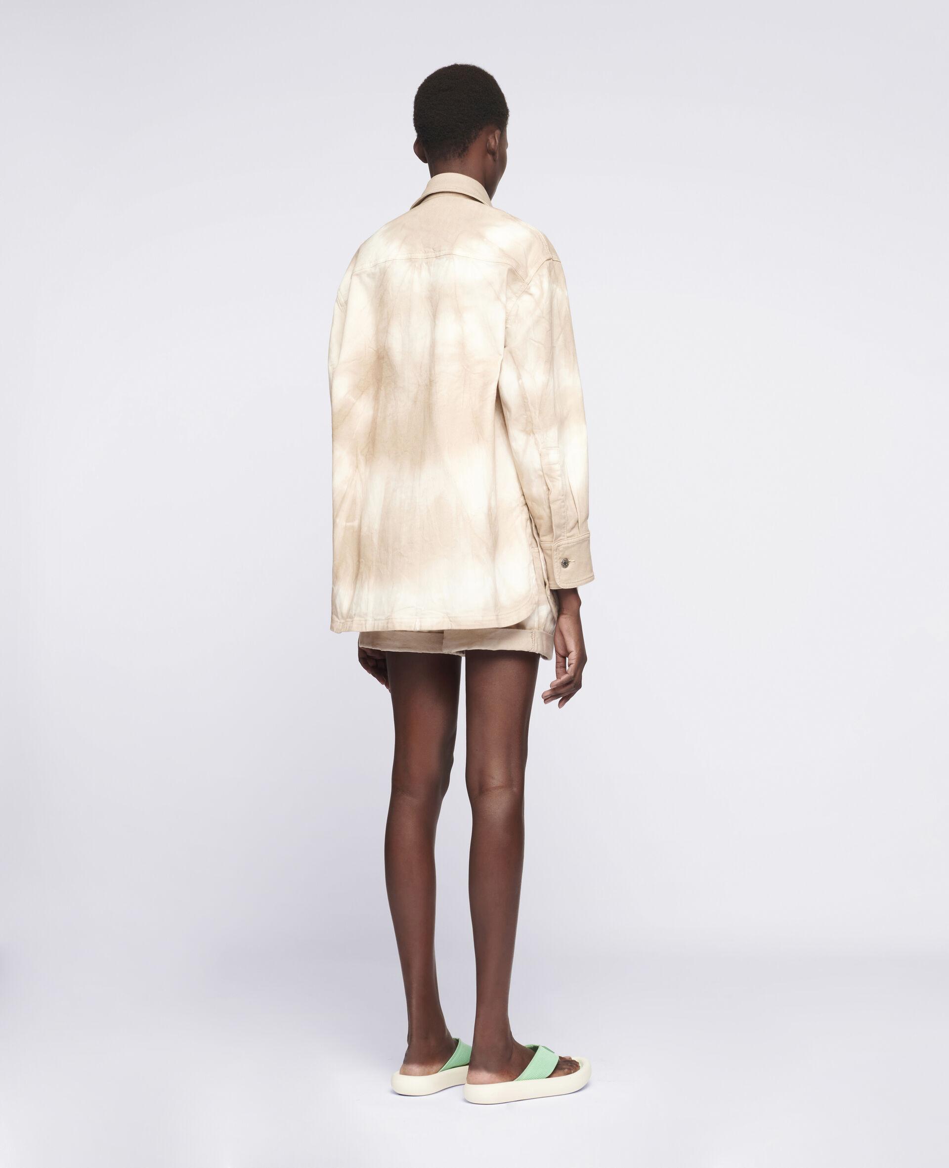 DenimhJeansJeansemd im Batik-Style-Beige-large image number 2