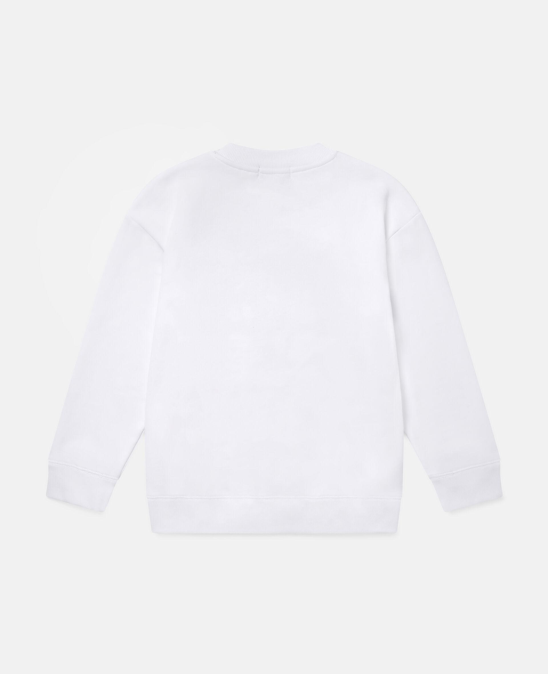 Fleece-Sweatshirt mit Pizza-Skater-Motiv-Weiß-large image number 3