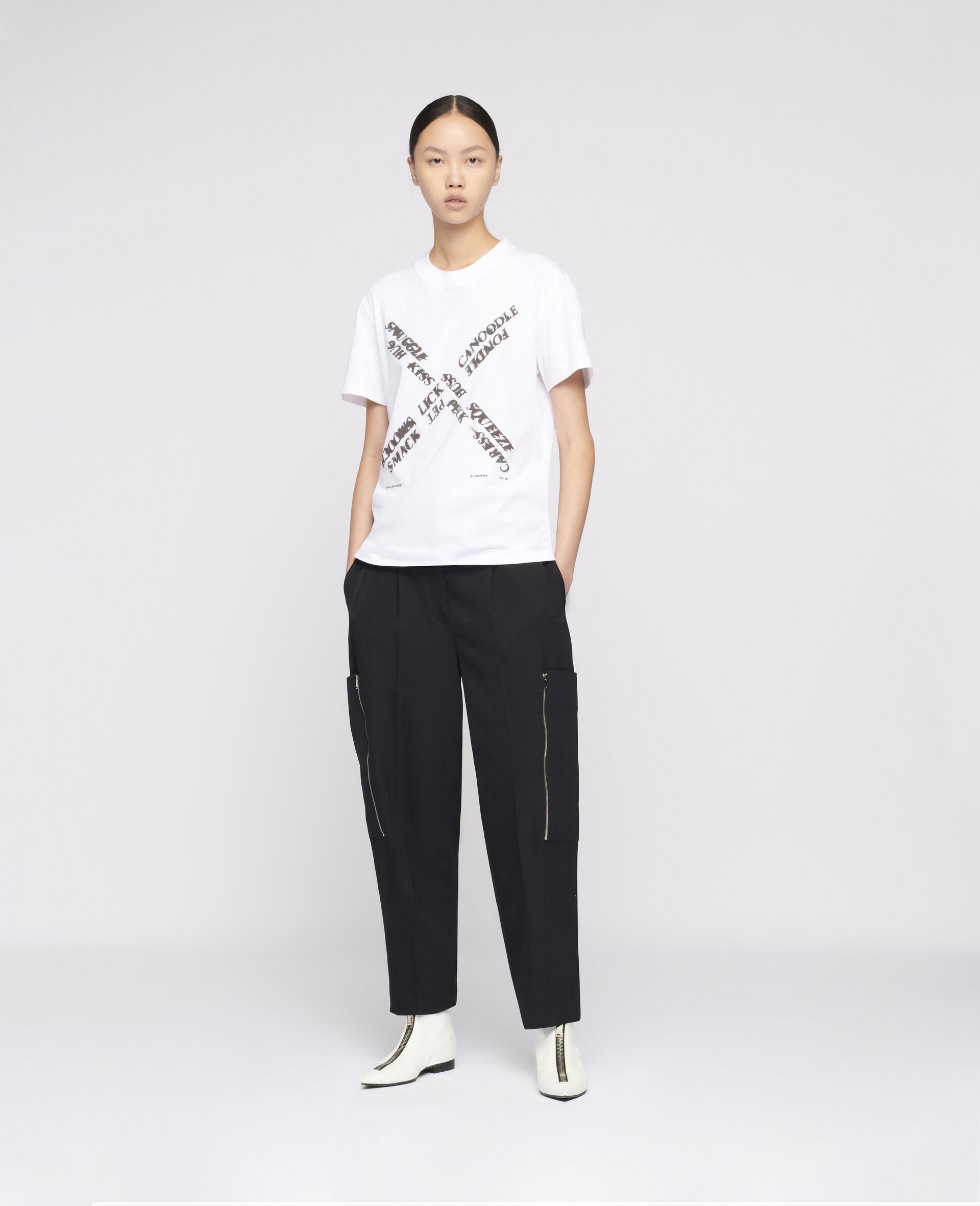 "Ed Ruscha ""X"" T-shirt-White-large image number 1"