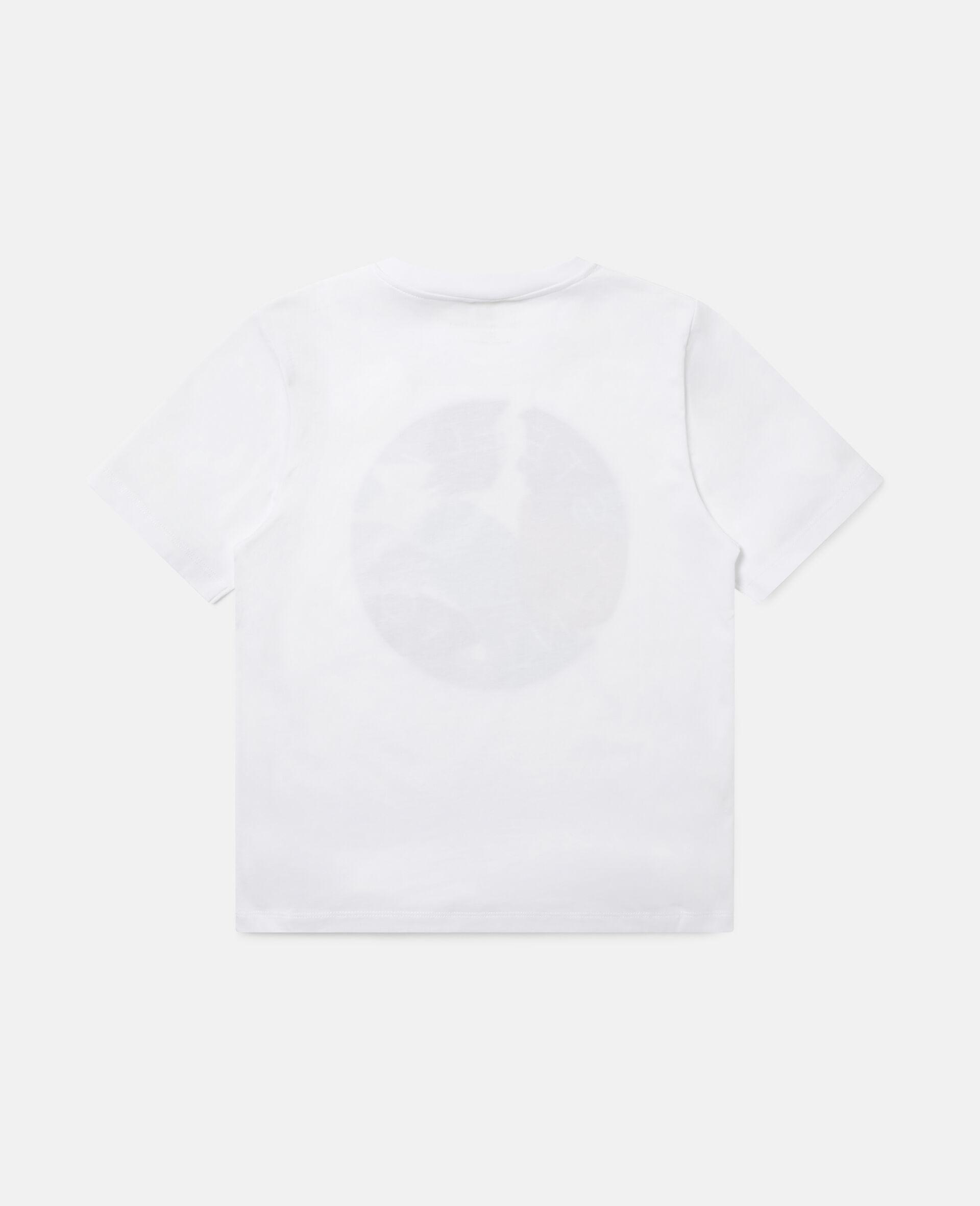T-shirt en coton à logo camouflage -Blanc-large image number 3