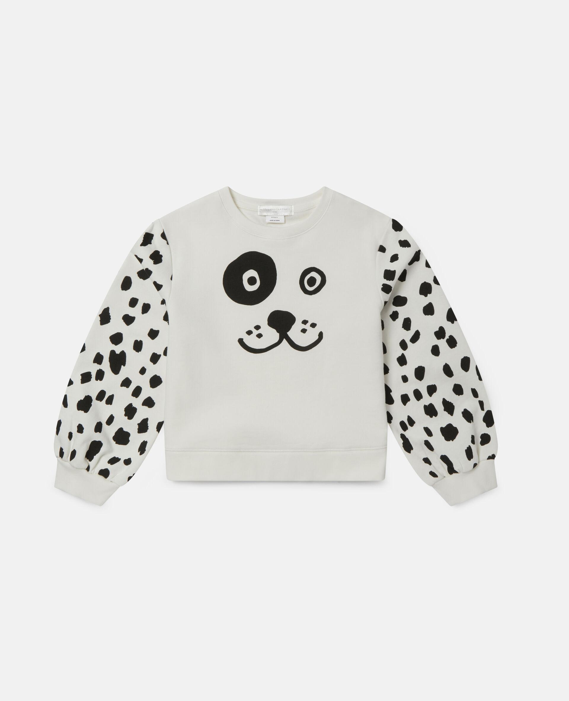 Fleece-Trainingsanzug mit Dalmatiner-Punkte-Print-Weiß-large image number 0