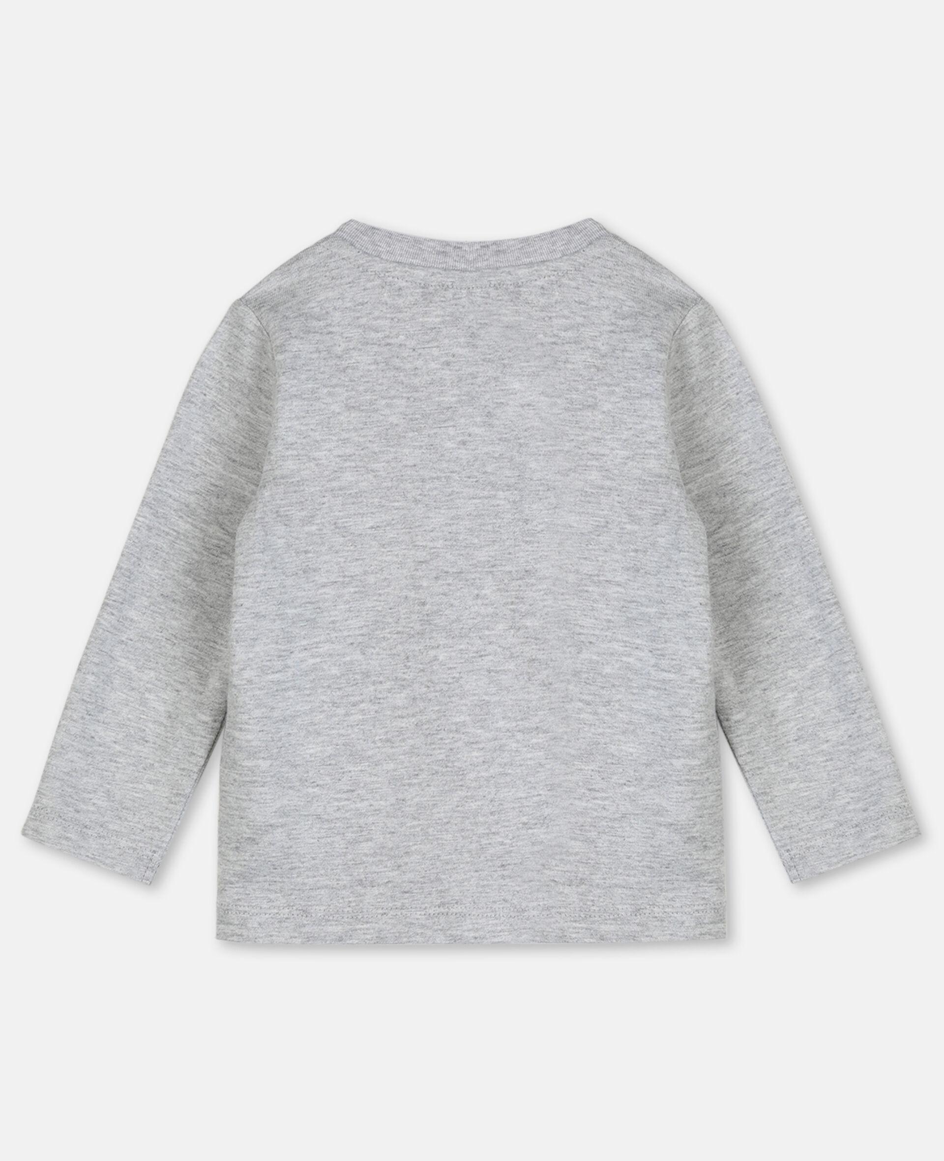 T-shirt en coton à motif jumelles -Gris-large image number 3