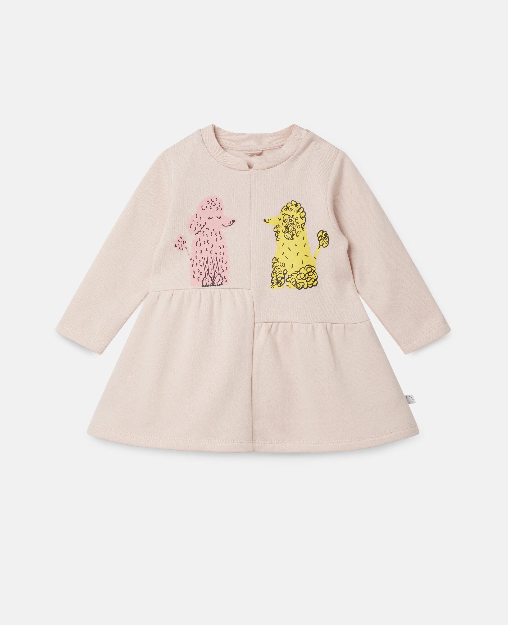 Kleid aus Fleece mit Pudel-Print-Rose-large image number 0