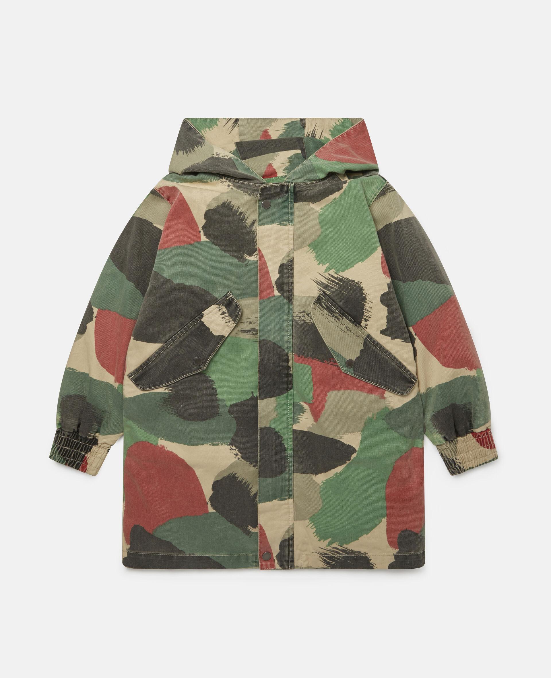 Denim-Parka mit Camouflage-Muster-Bunt-large image number 0