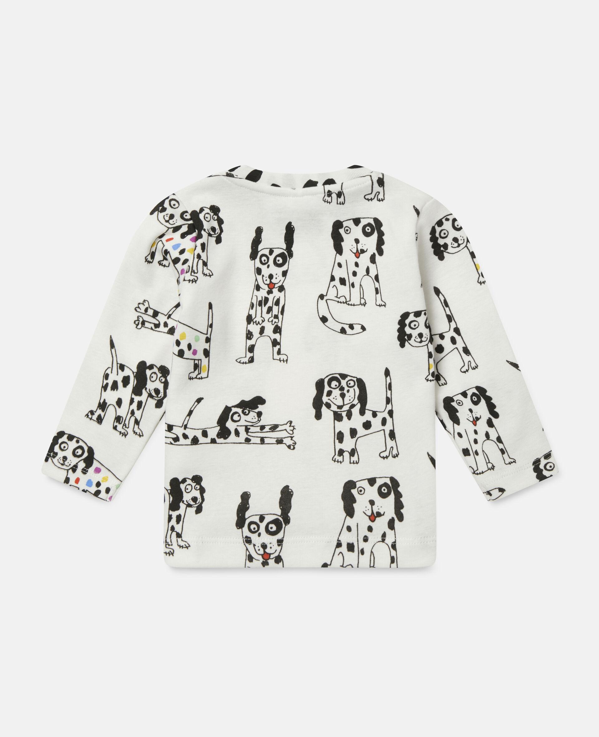 """Oberteil aus geripptem Jersey mit """"Doodle Dalmatians""""-Motiv-Weiß-large image number 3"""