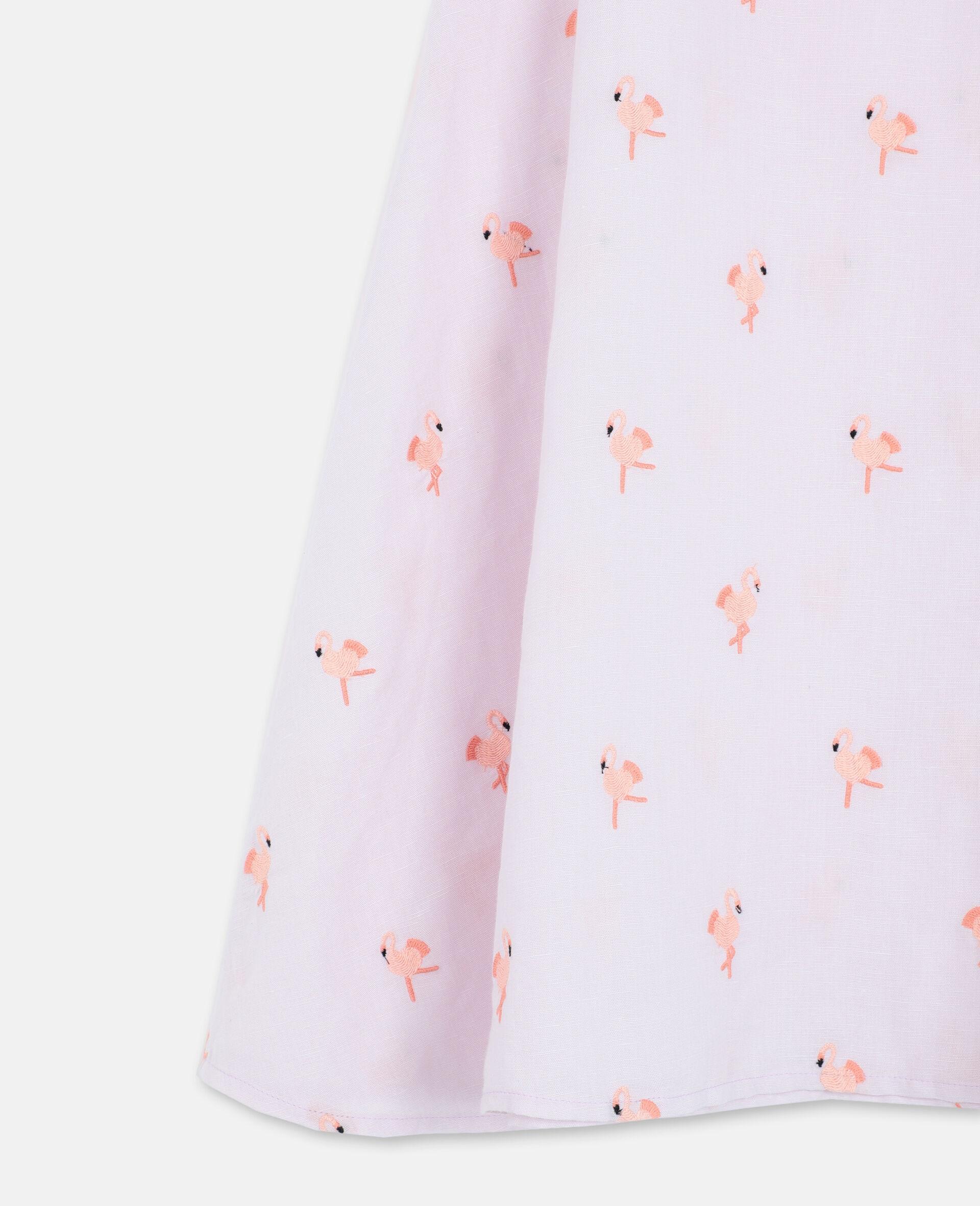 Embroidered Flamingo Dress-Pink-large image number 2