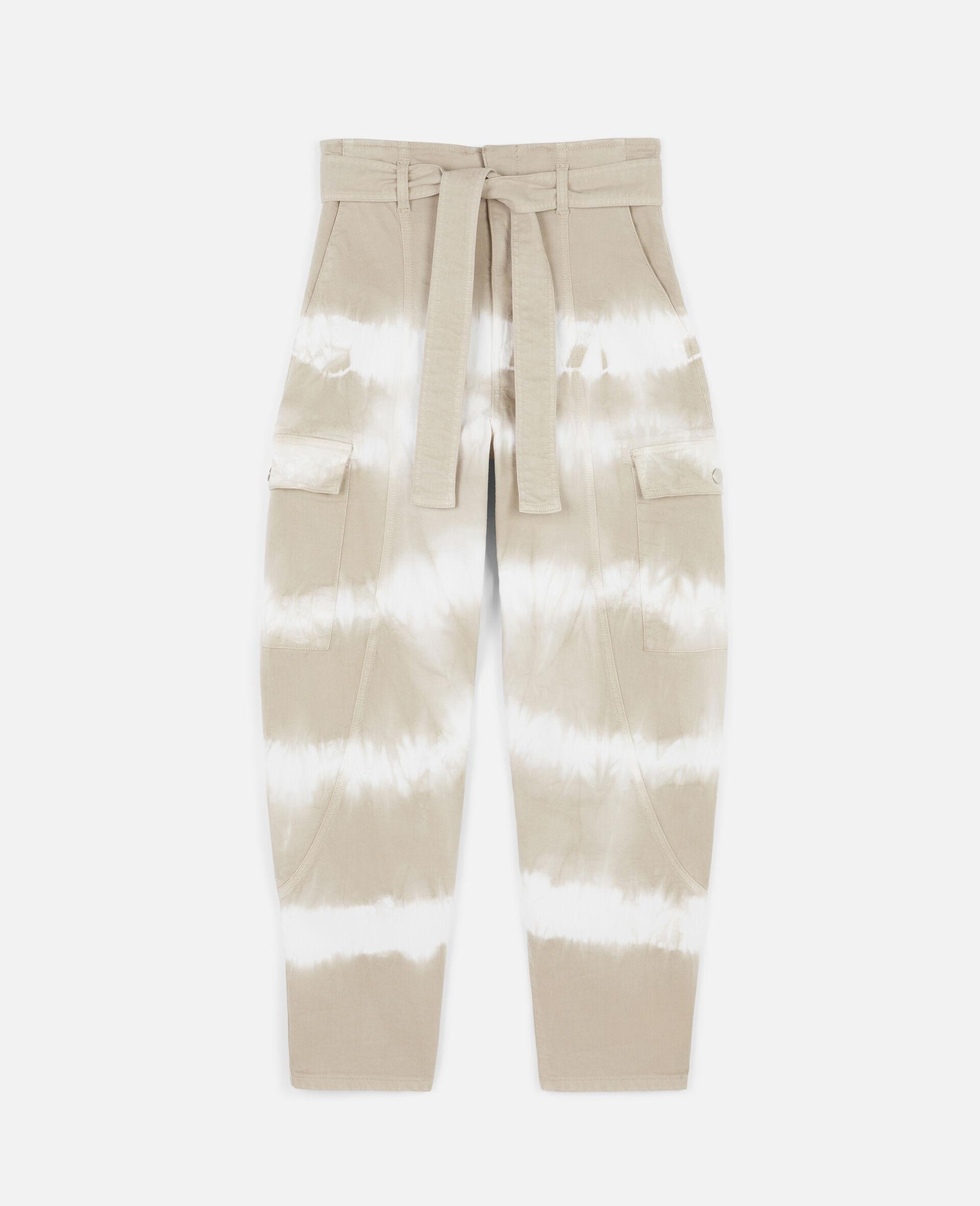 扎染牛仔裤-米色-large image number 0