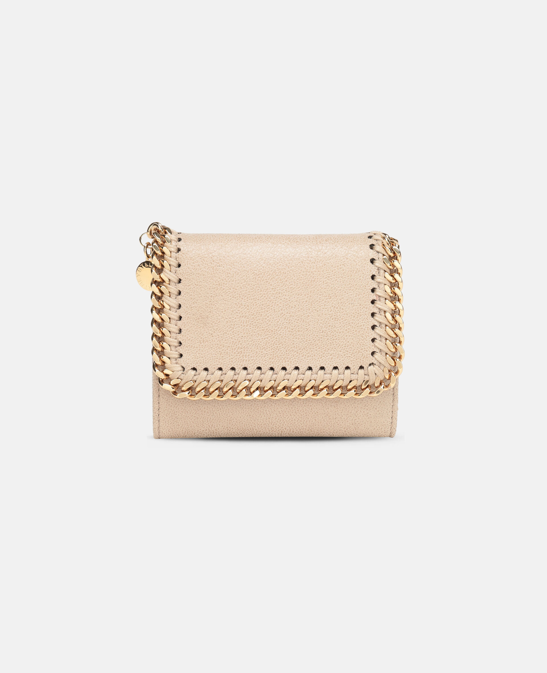 Falabella Small Flap Wallet-Beige-large