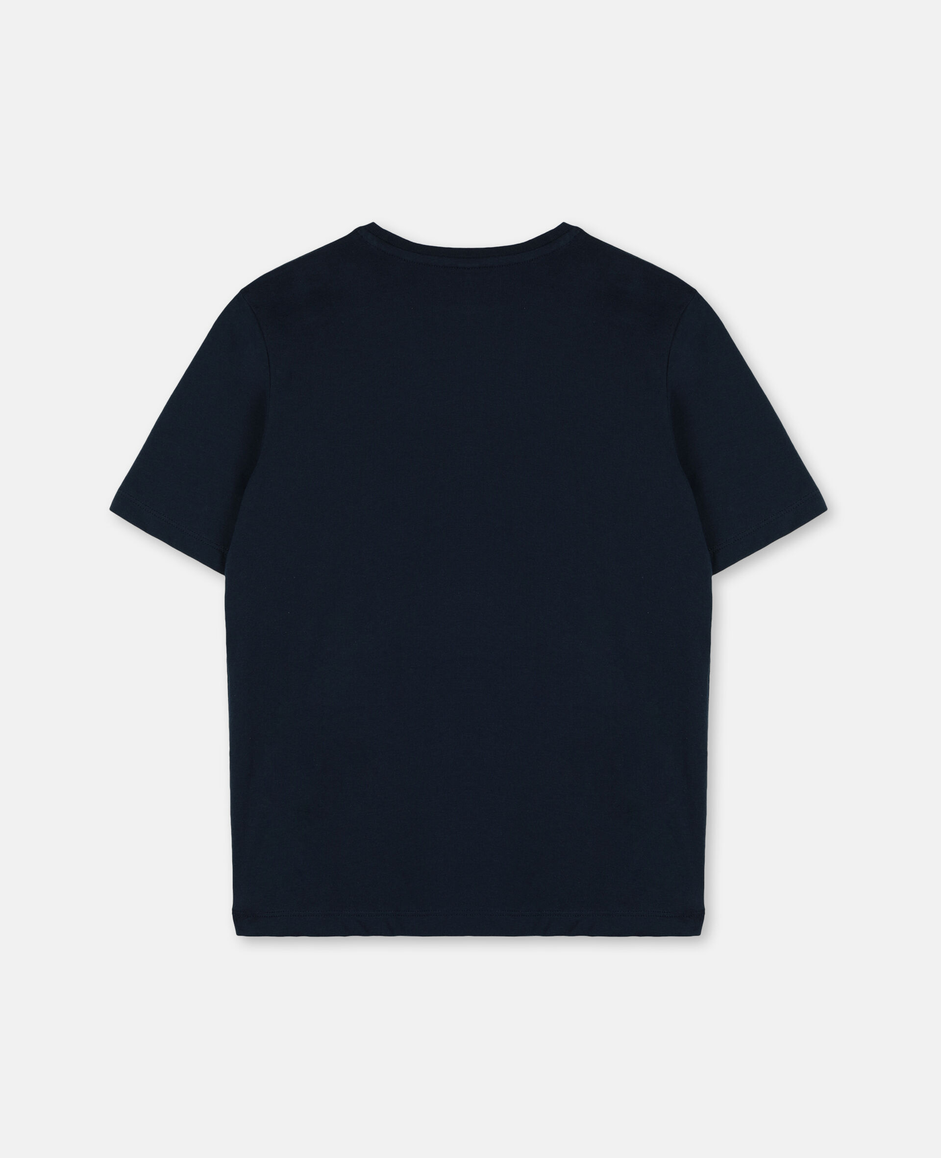 Palm Oversize Cotton Logo T-shirt-Blue-large image number 3