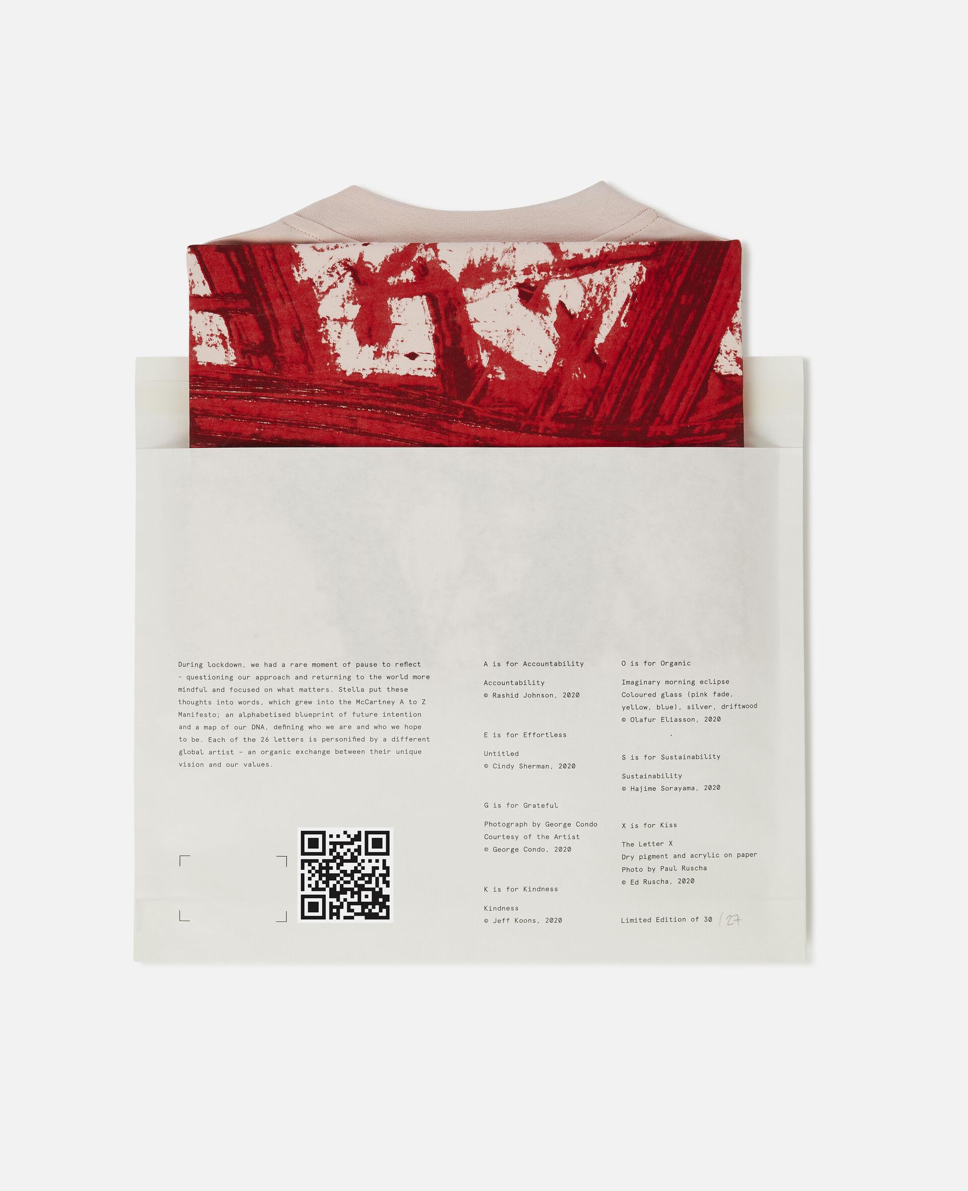 "T-Shirt ""A"" di Rashid Johson-Rosa-large image number 5"