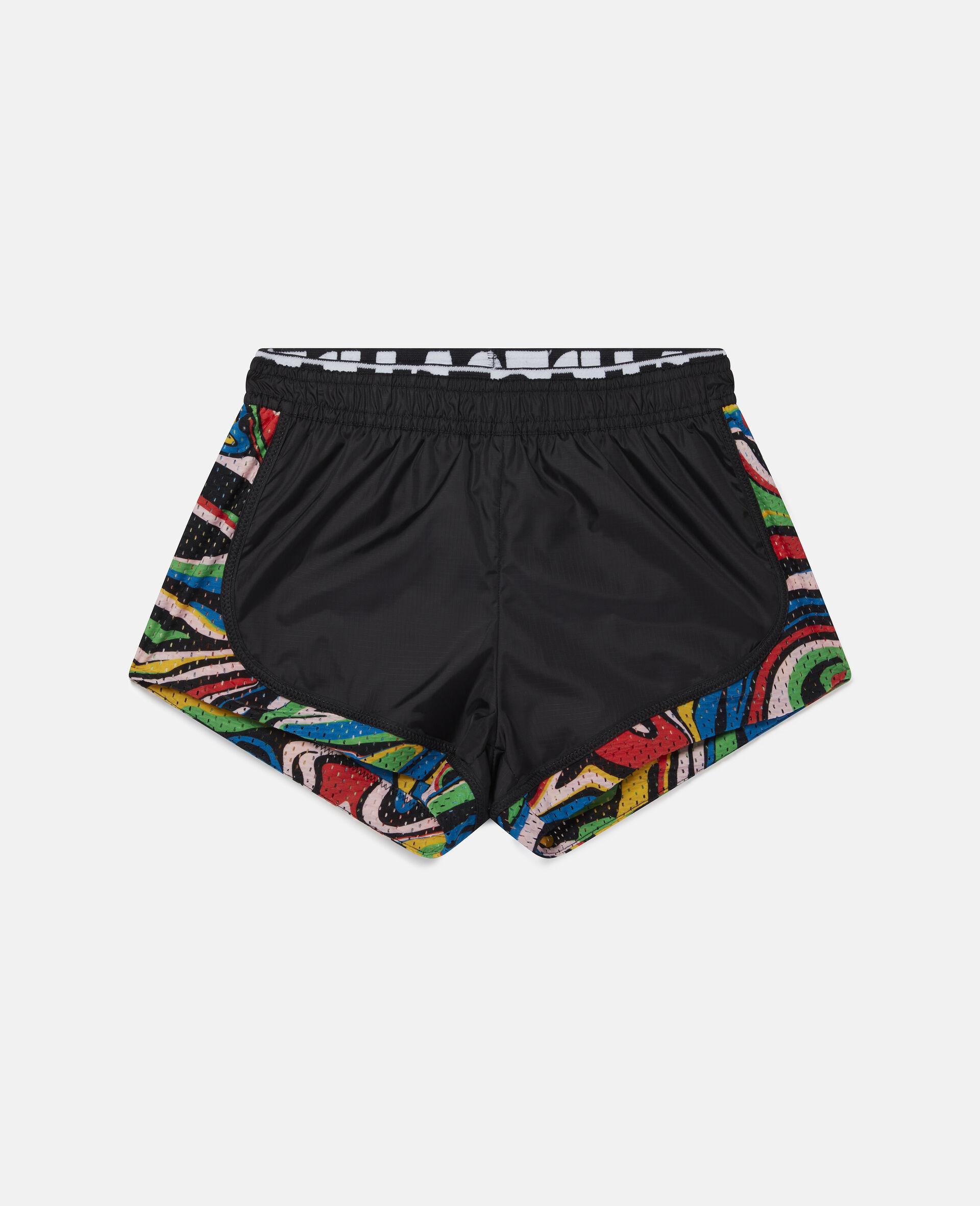 Shorts Active Marmorizzati -Nero-large image number 0