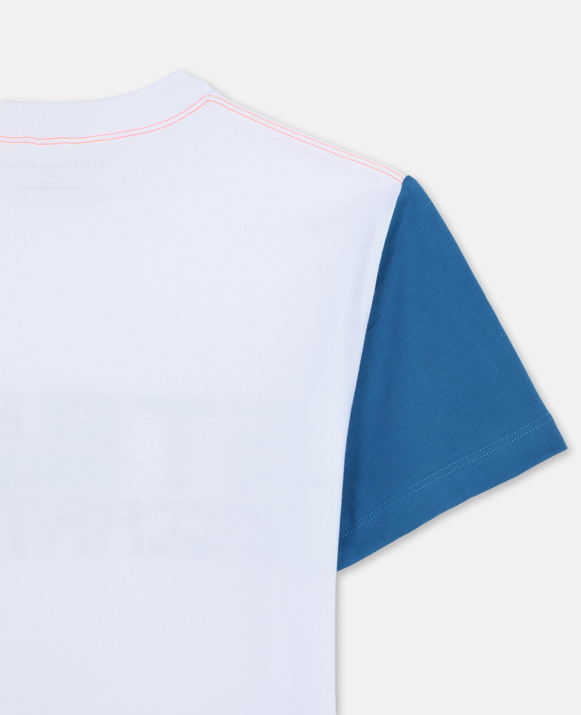 T-shirt de sport oversize en coton avec logo -Blanc-large image number 2