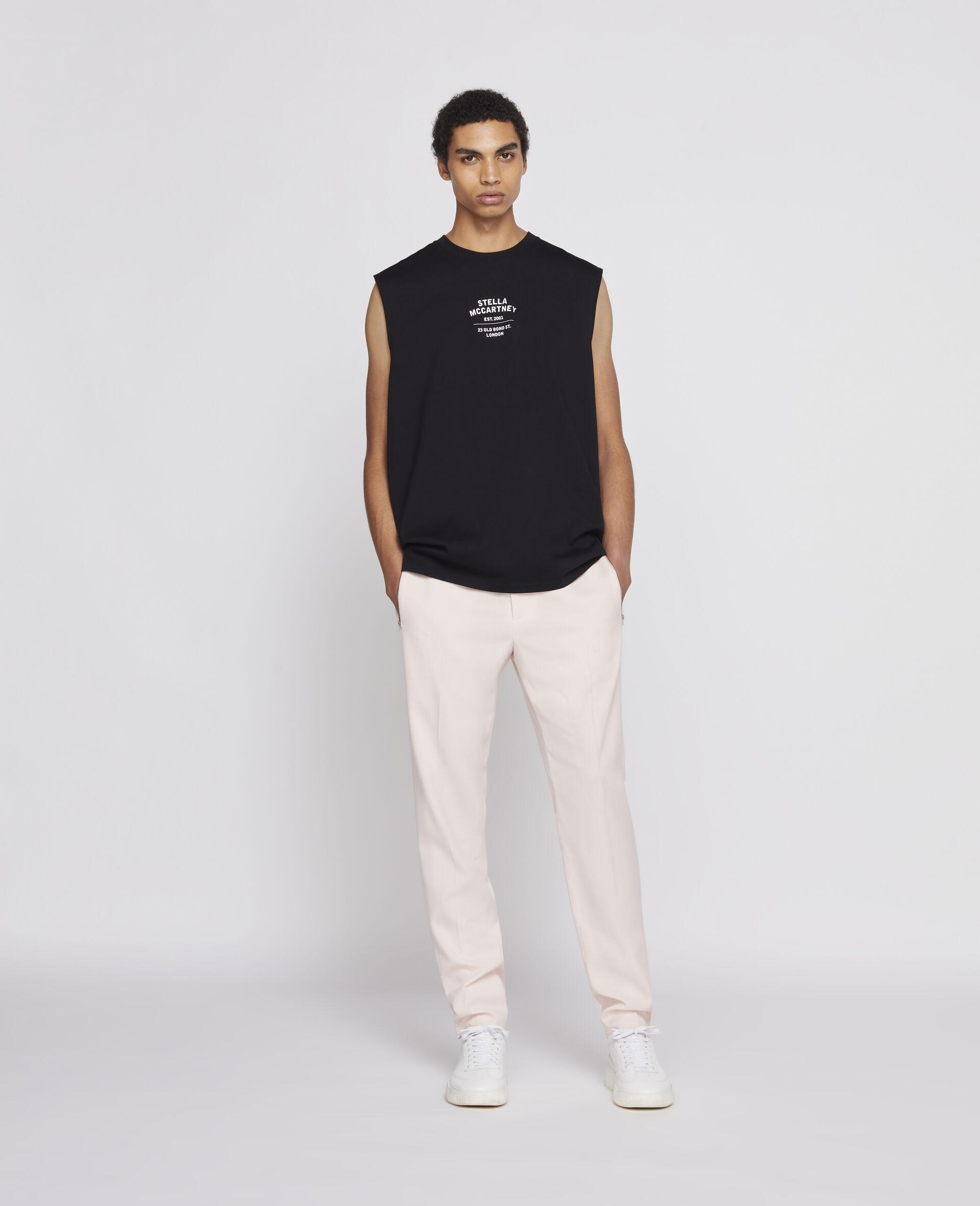 23 OBS Sleevless T-shirt-Black-large image number 1